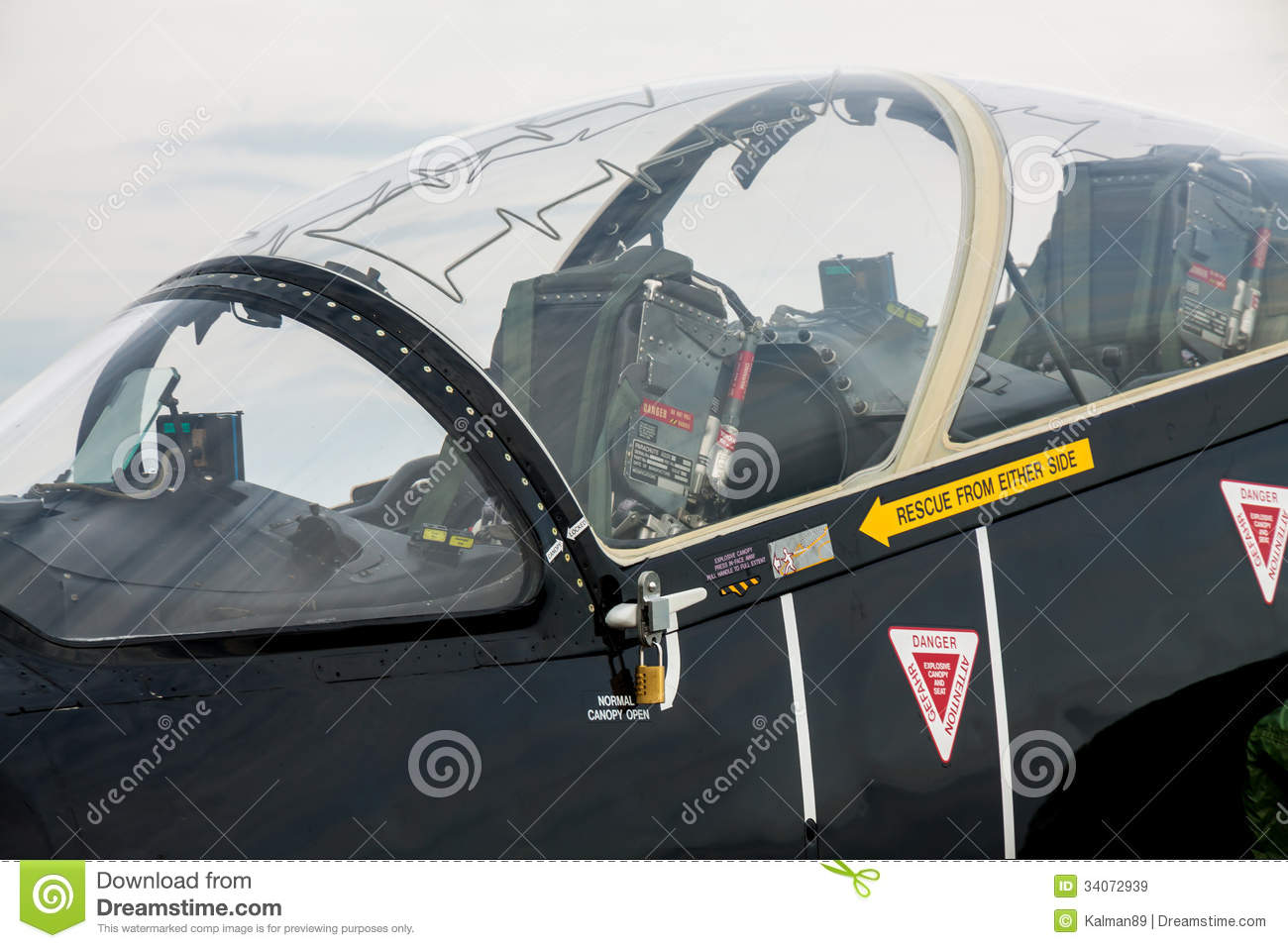 Jet Fighter Canopy Closed & Jet Fighter Canopy Closed stock image. Image of seat - 34072939