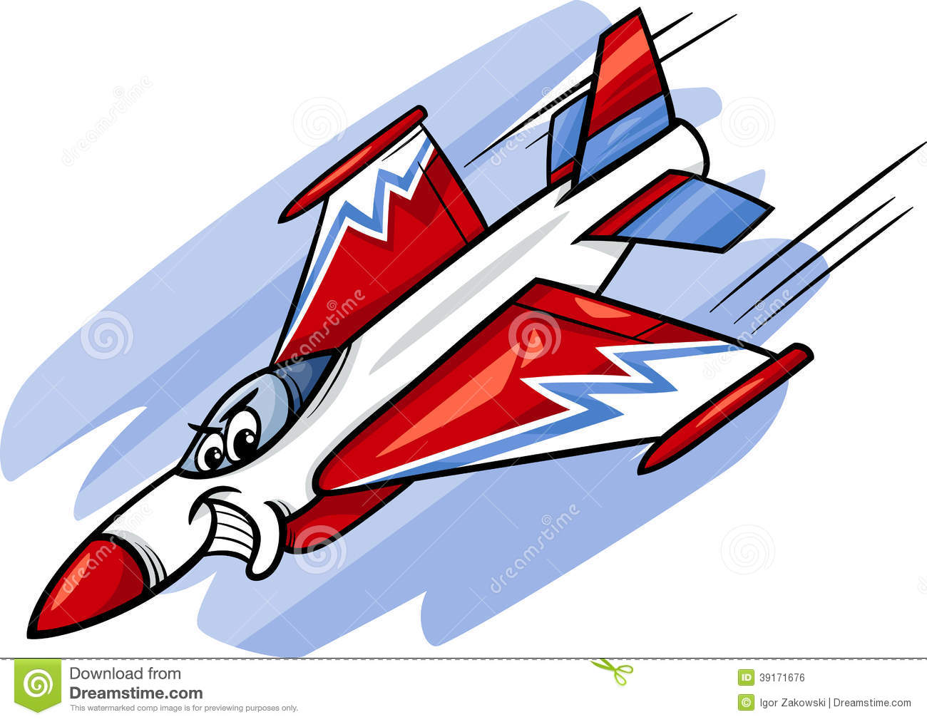 Jet Fighter Plane Cartoon Illustration Stock Vector - Image: 39171676