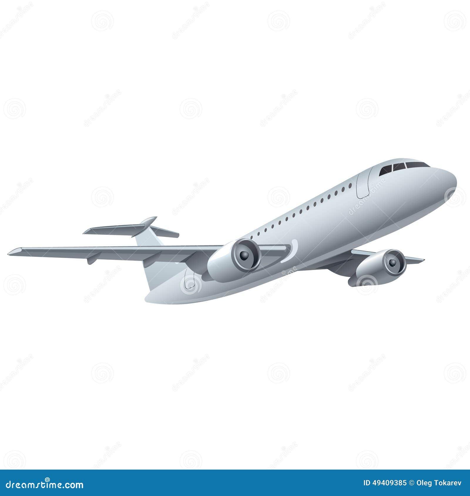 Download Jet-Flugzeug stock abbildung. Illustration von flug, flughafen - 49409385