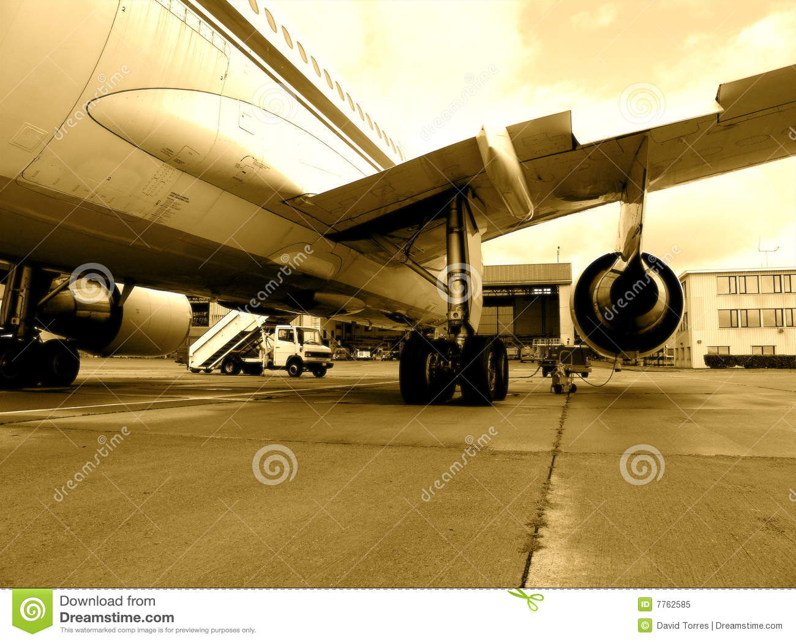 Jet op tarmac