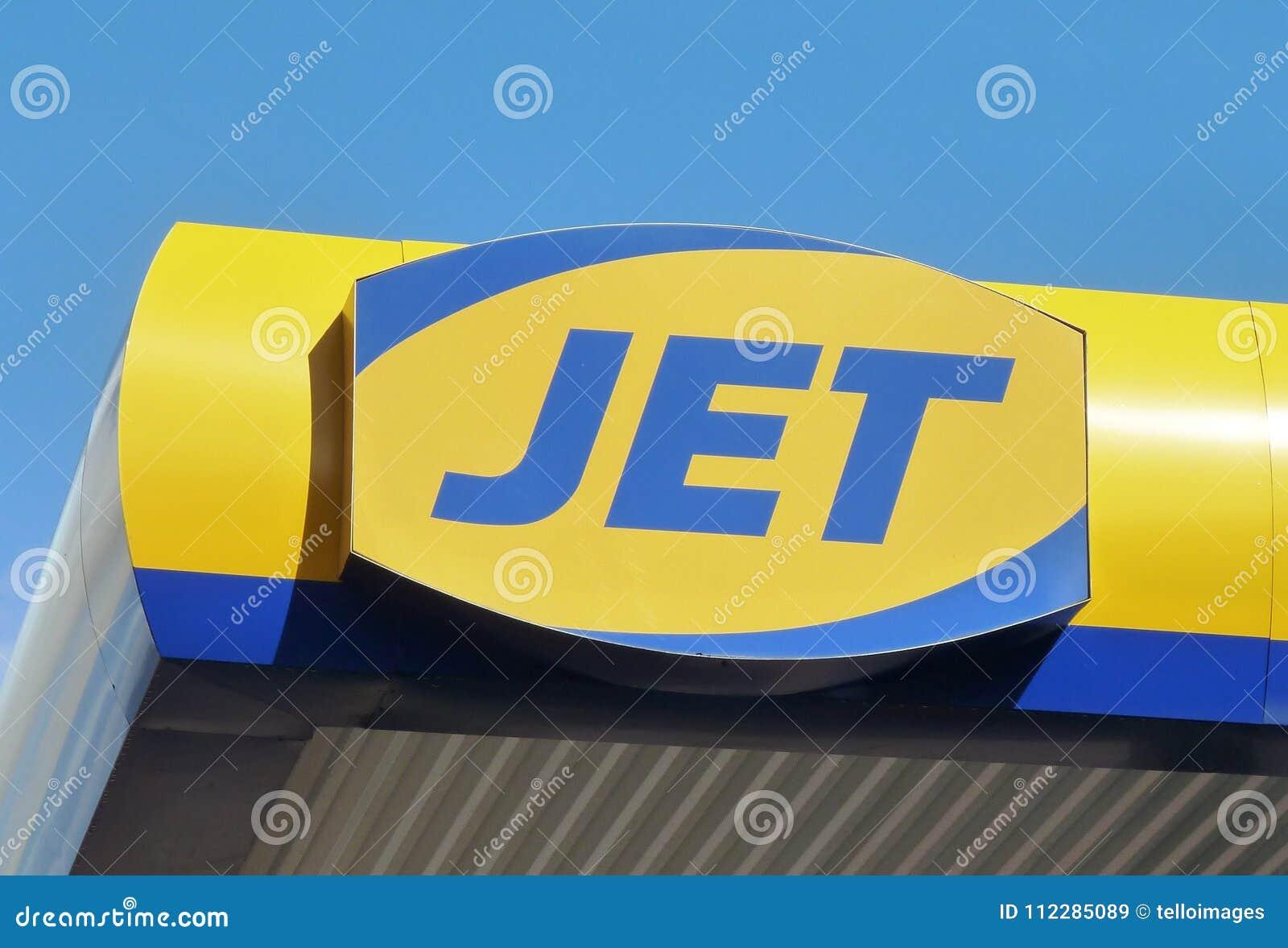 Jet Petrol Station Sign Logo