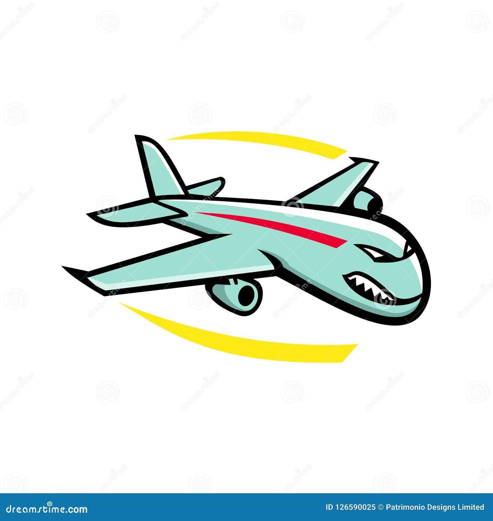 Jet Plane Mascot enorme arrabbiata
