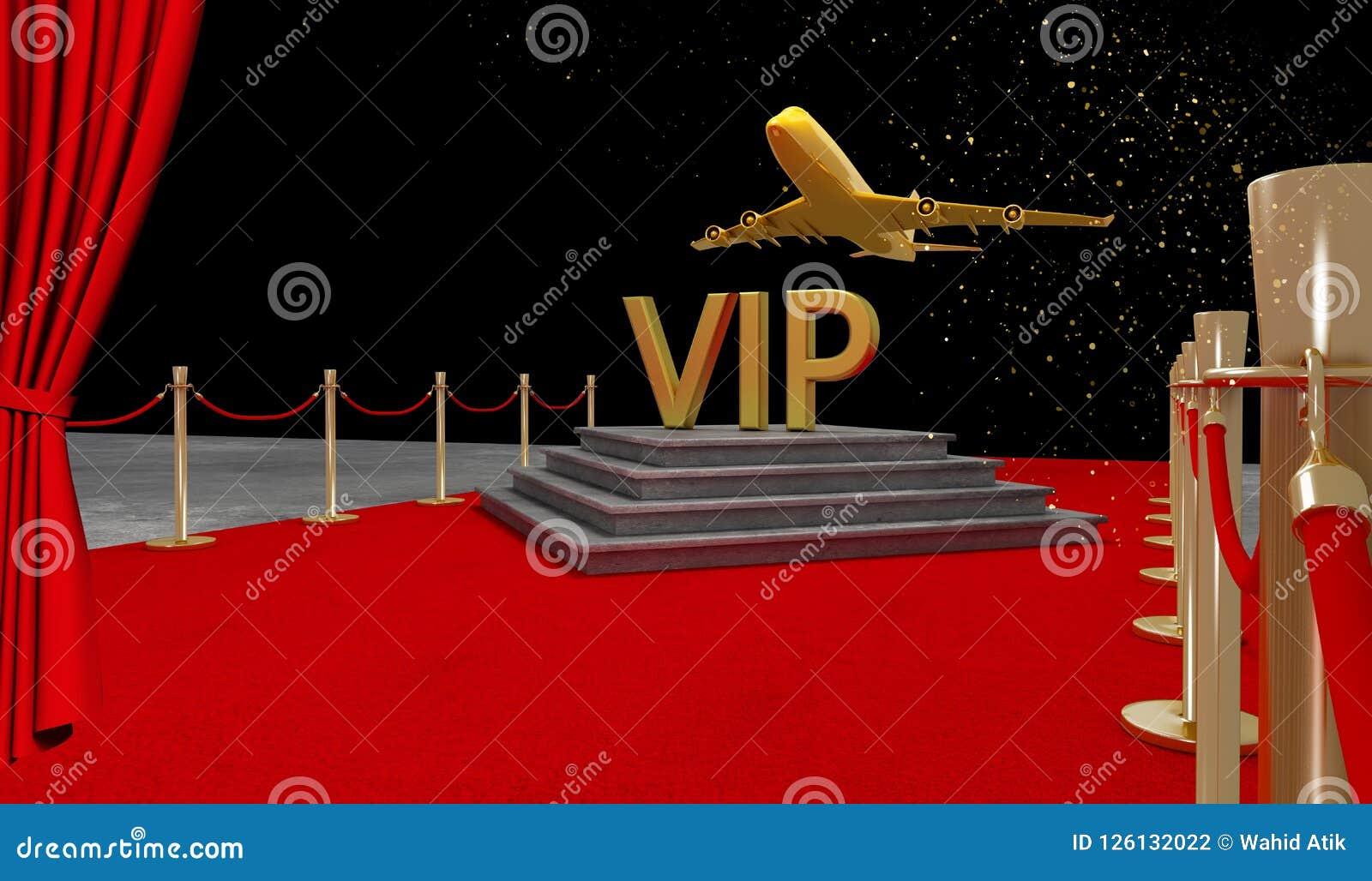 Jet privé de tapis rouge avec un luxe VIP