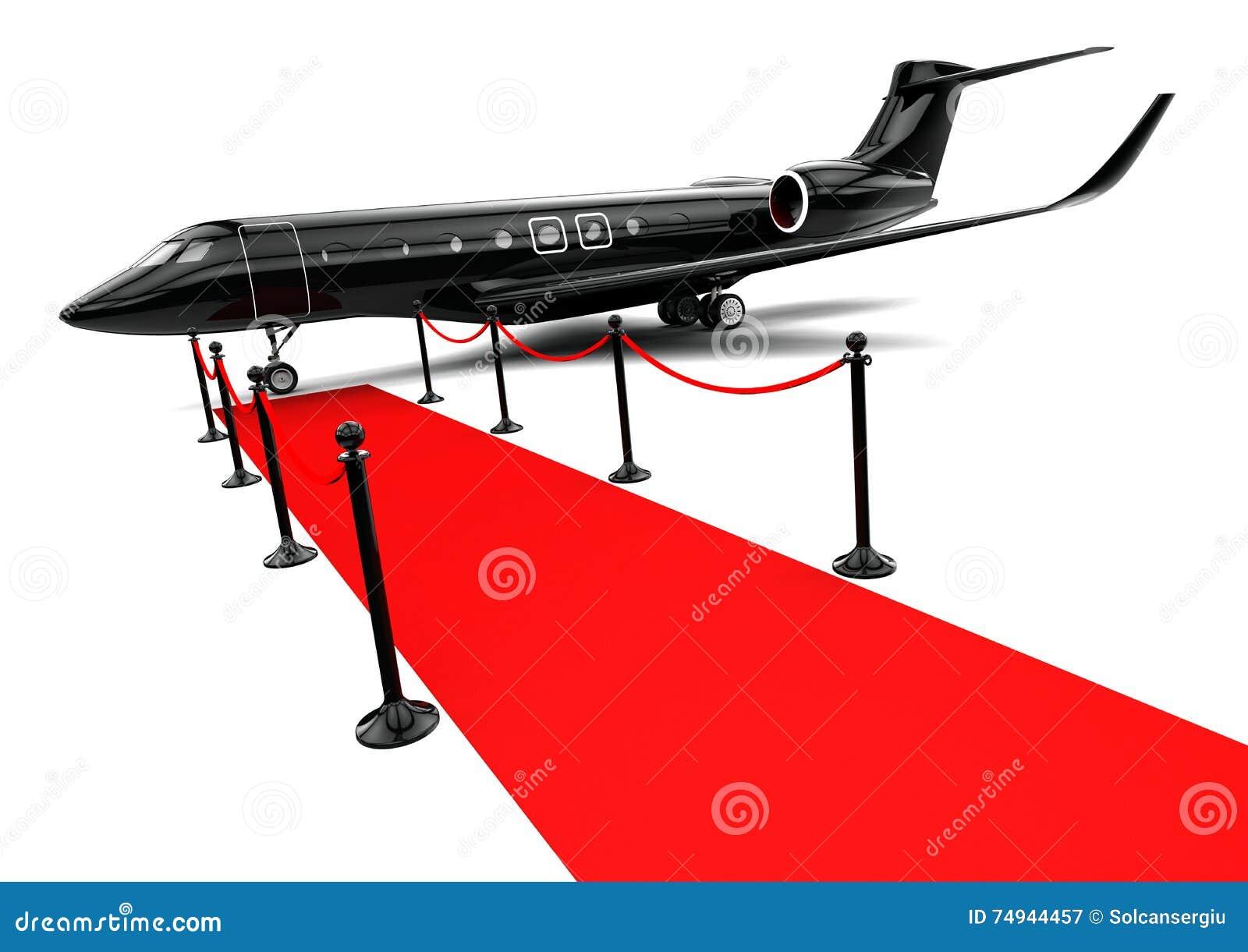 Jet privé noir