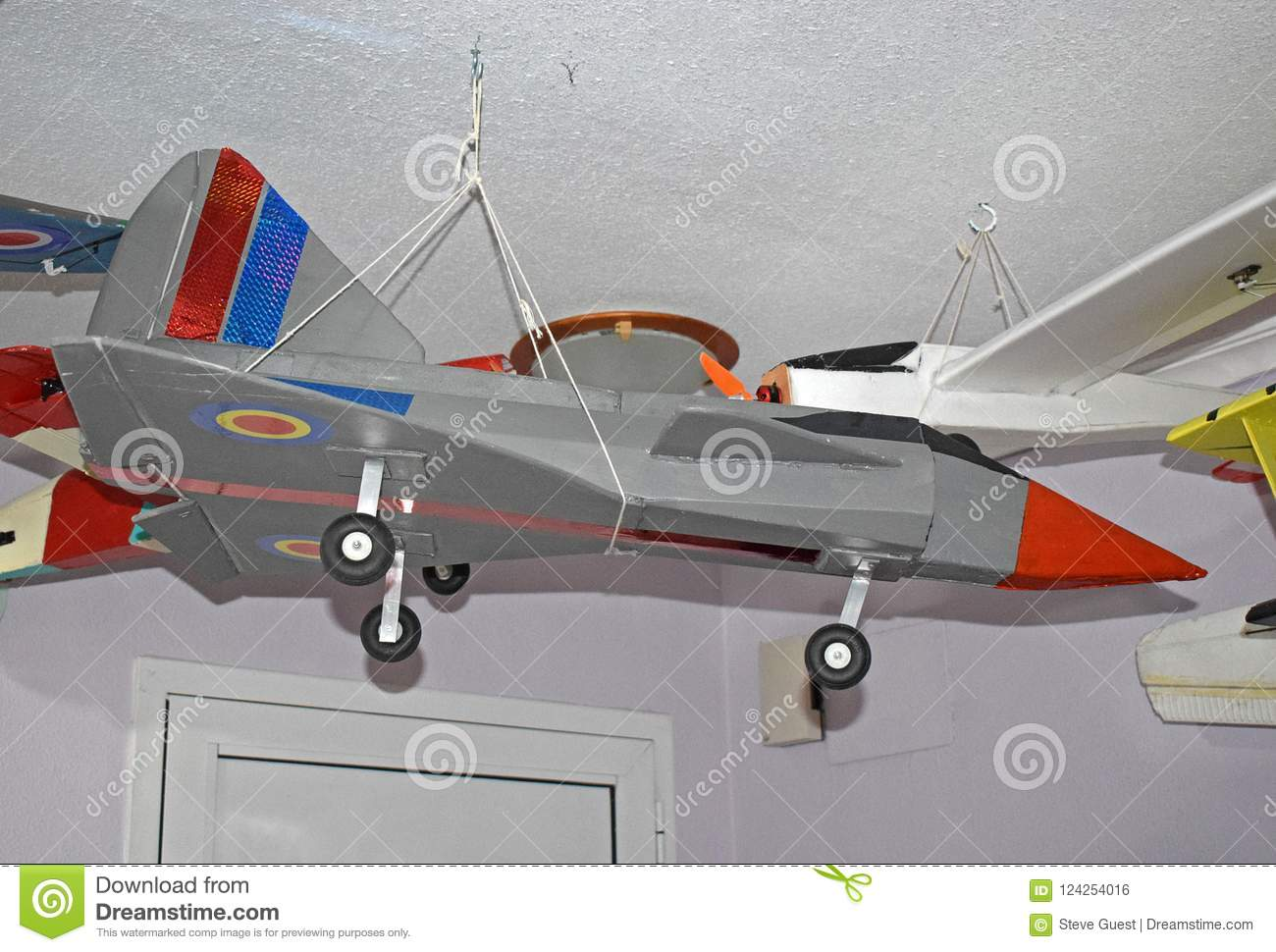 Jet RC Foam Aircraft Construction  Stock Photo - Image of