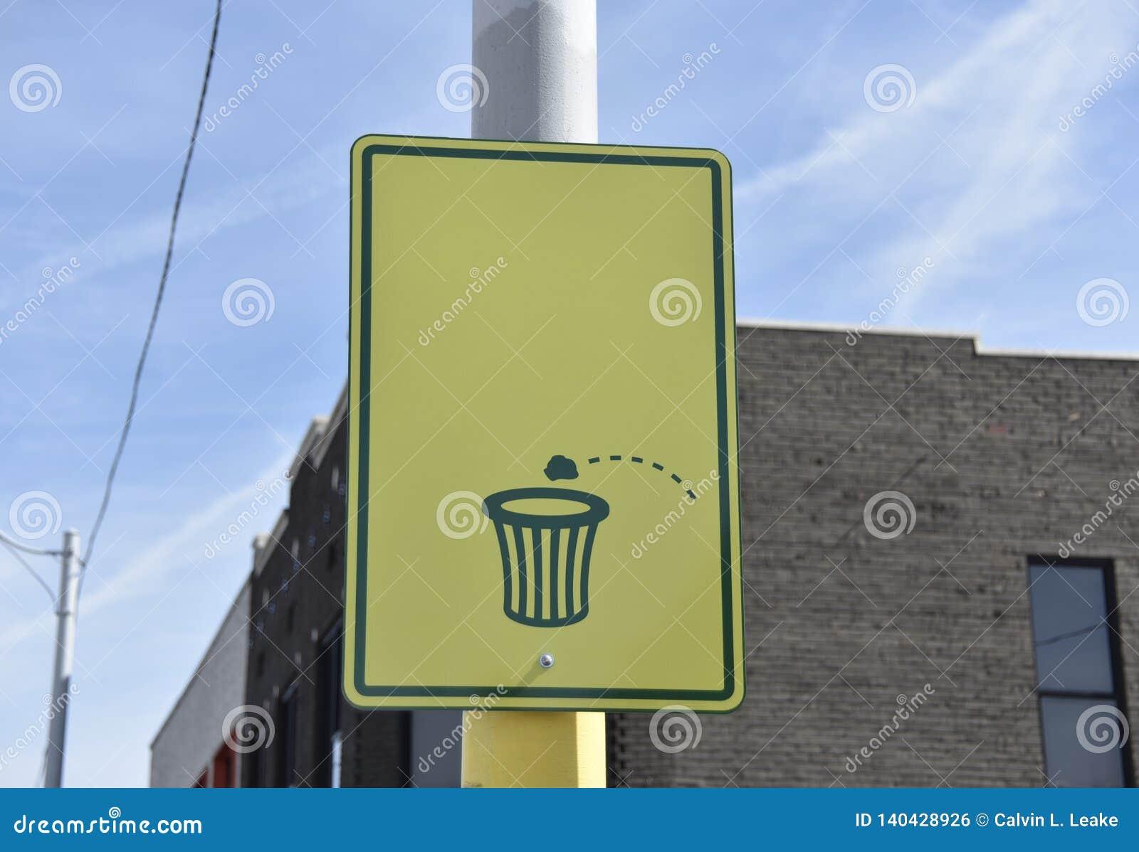 Jetez vos déchets dans une poubelle