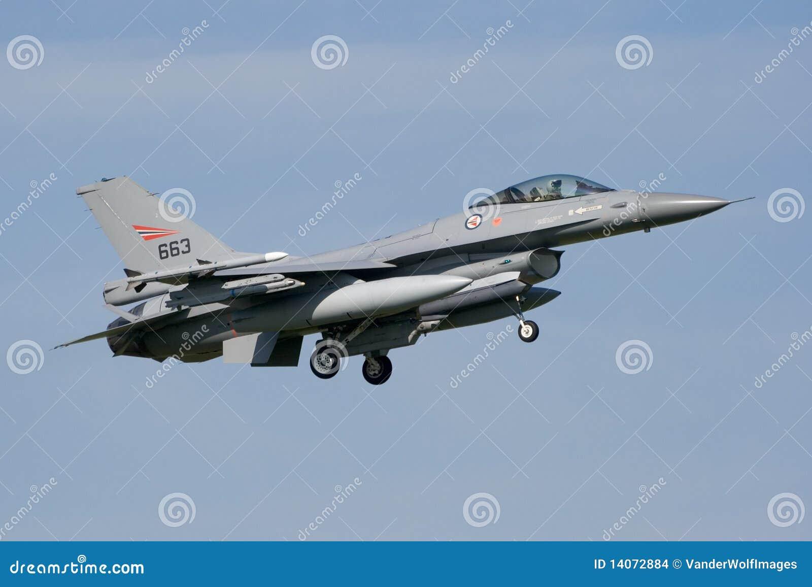 Jetfighter för luftf16-kraft