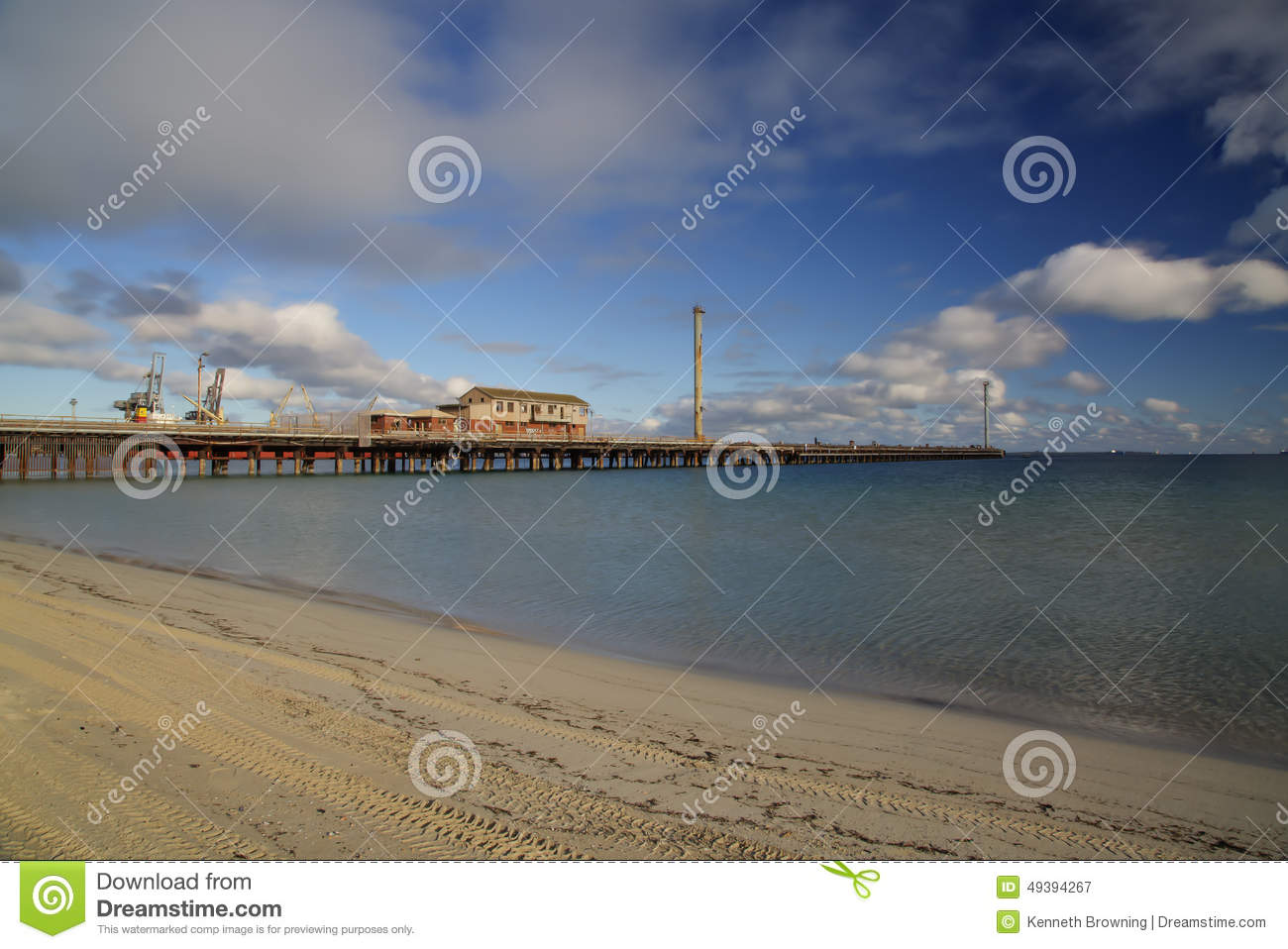 Jetty stock image  Image of water, sand, jetty, clouds