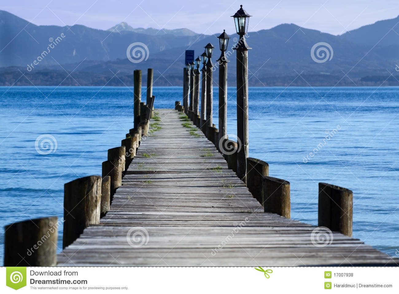 Jetty at lake chiemsee royalty free stock photos image for Chiemsee design hotel