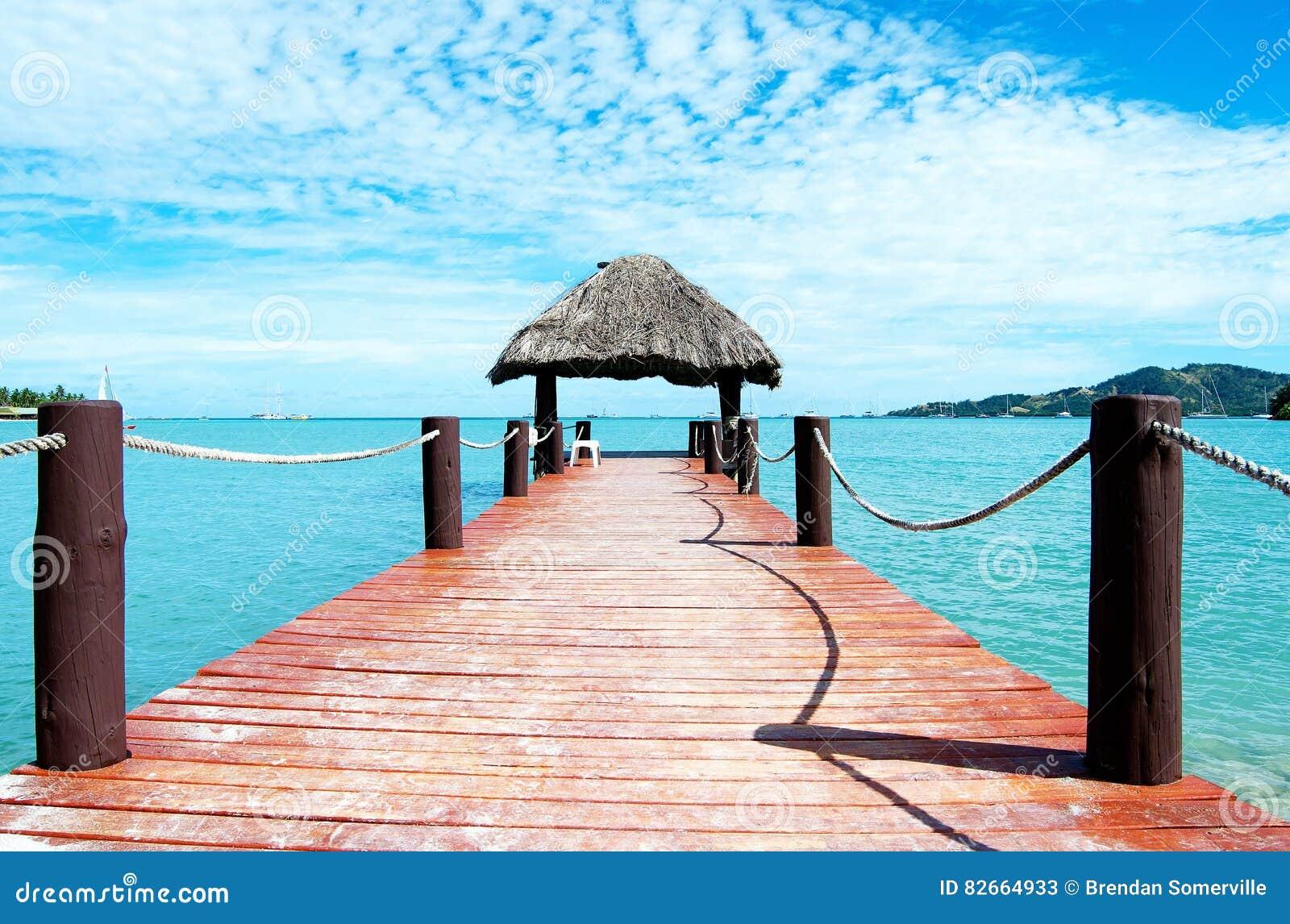 Jetty off Plantation Island, Fiji