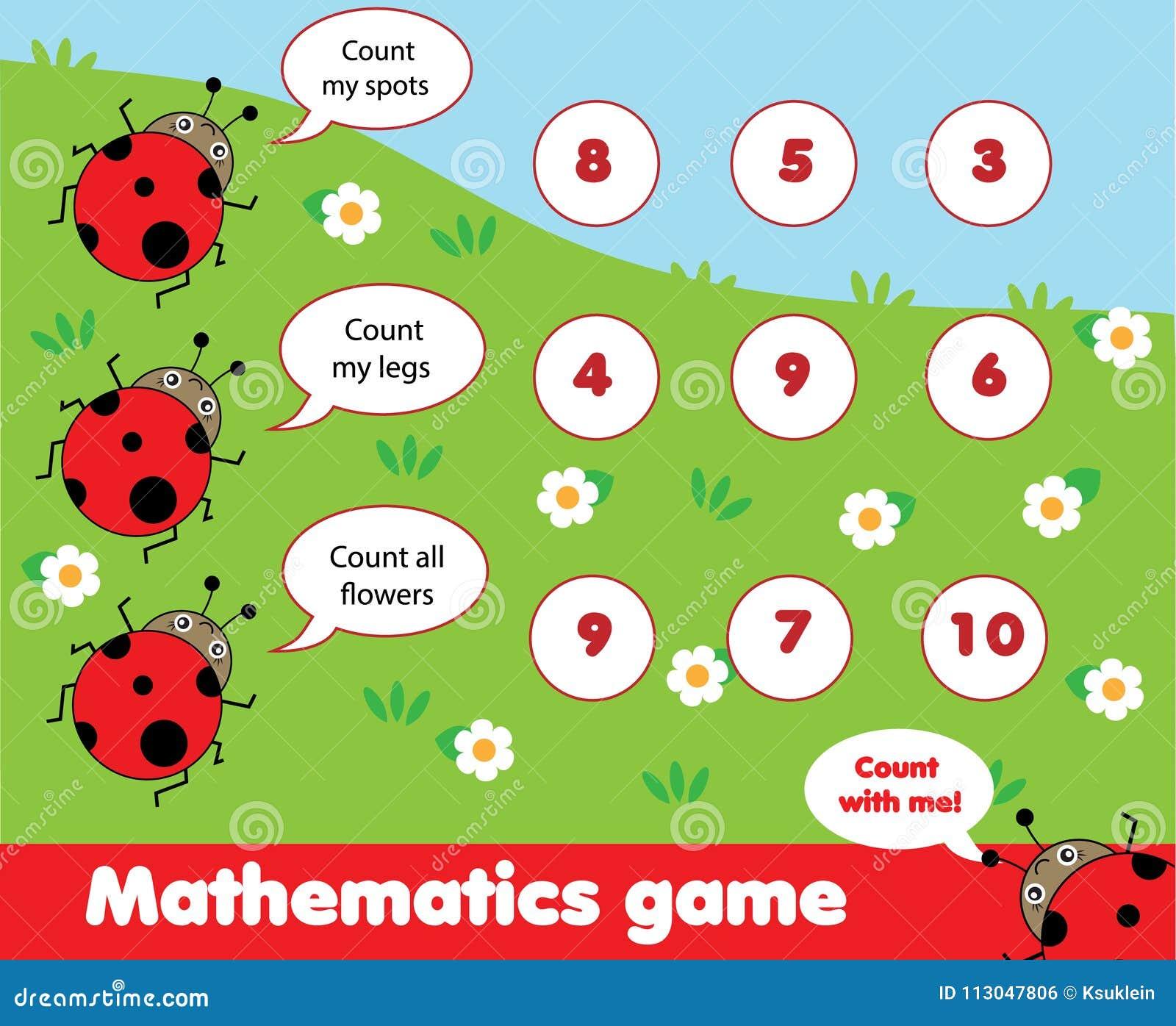Jeu éducatif d enfants Compte du jeu Les maths badinent l activité Combien d objets chargent
