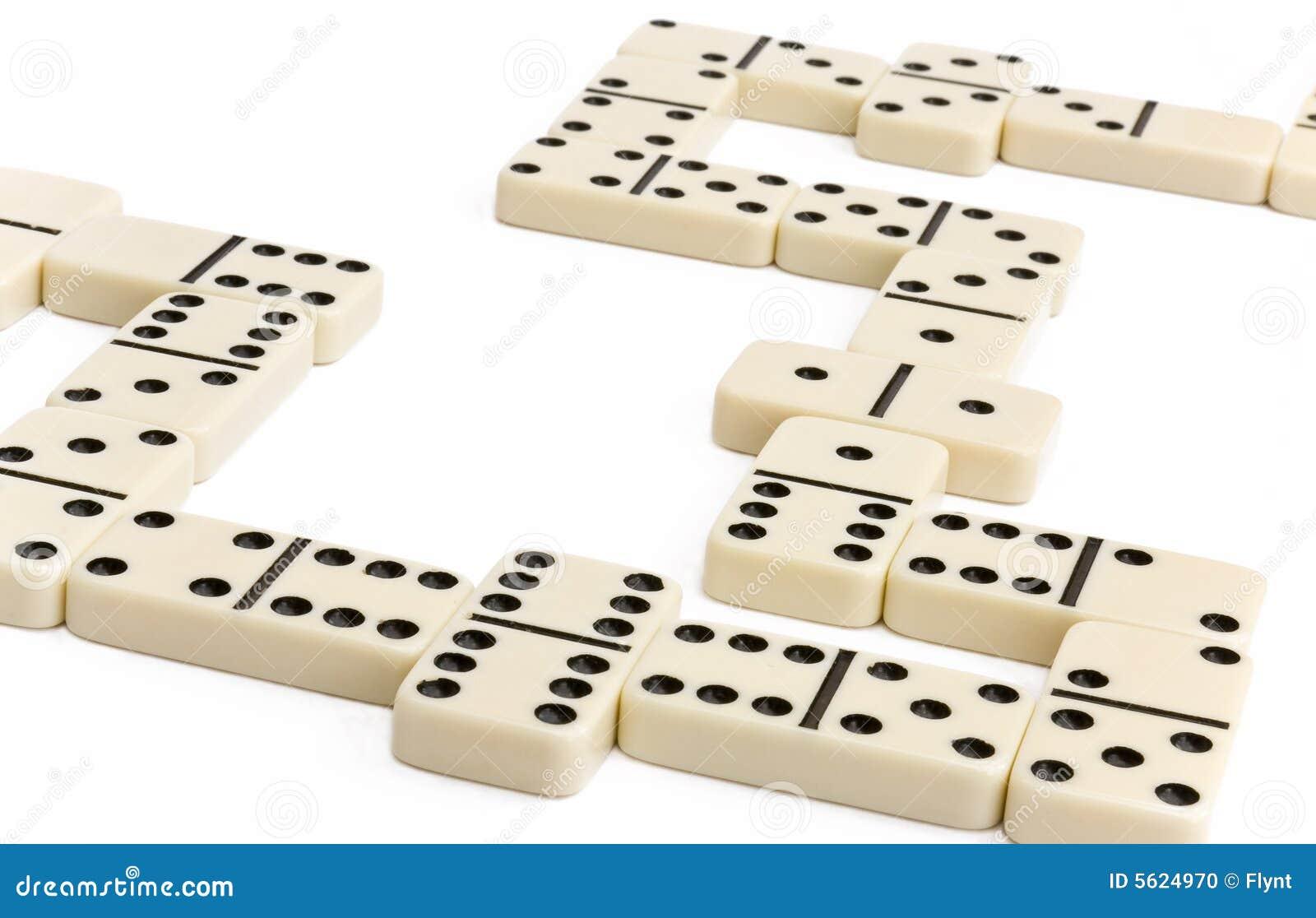 Jeu blanc de domino