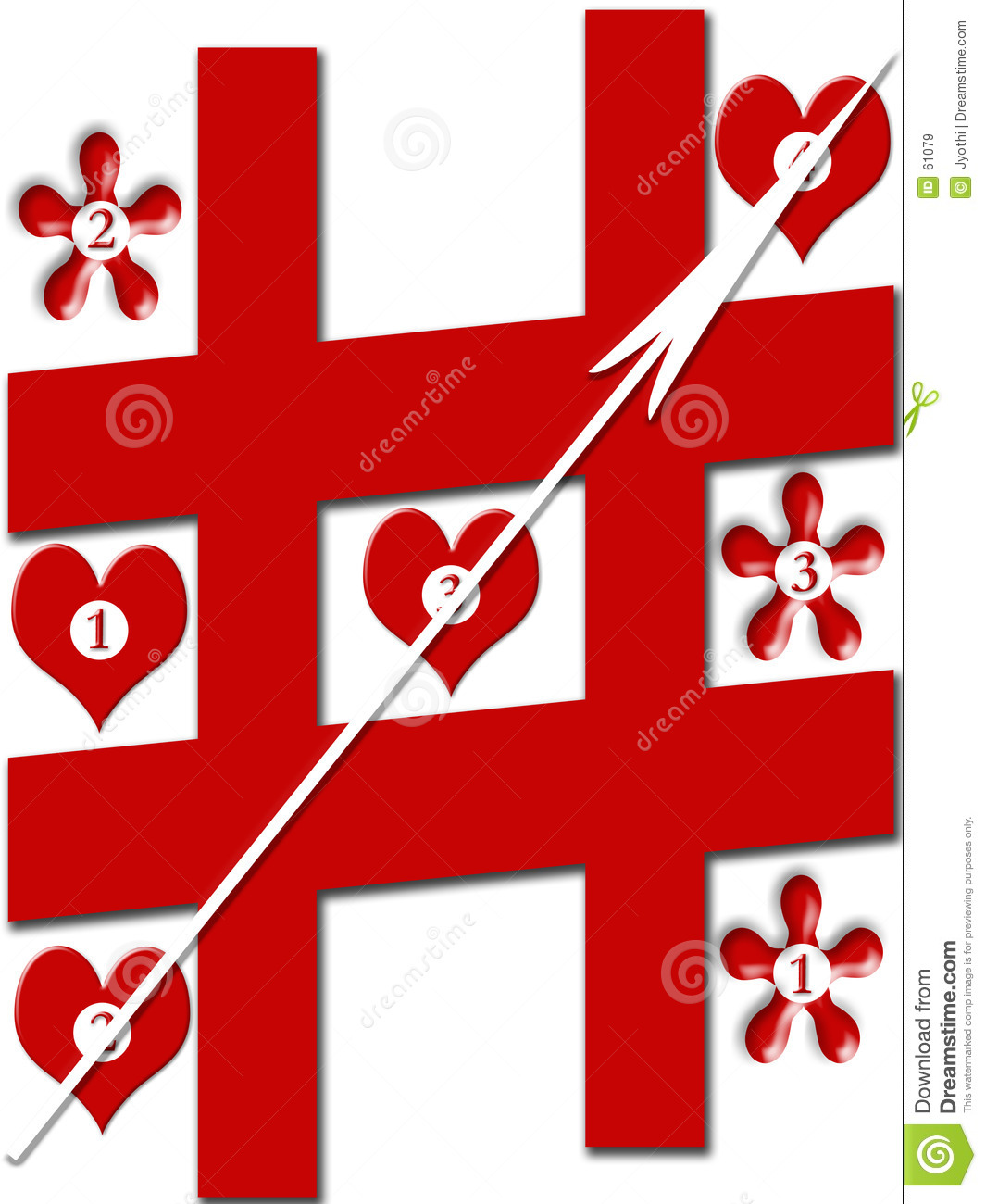 Download Jeu d'amour illustration stock. Illustration du coeurs, sensation - 61079