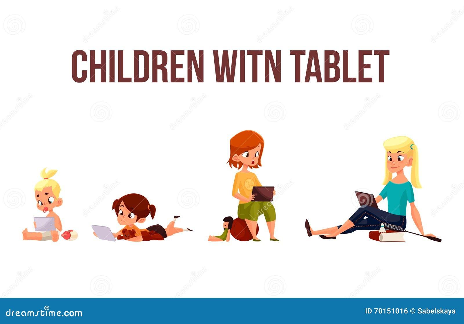 Jeu d enfants dans le smartphone ou le comprimé