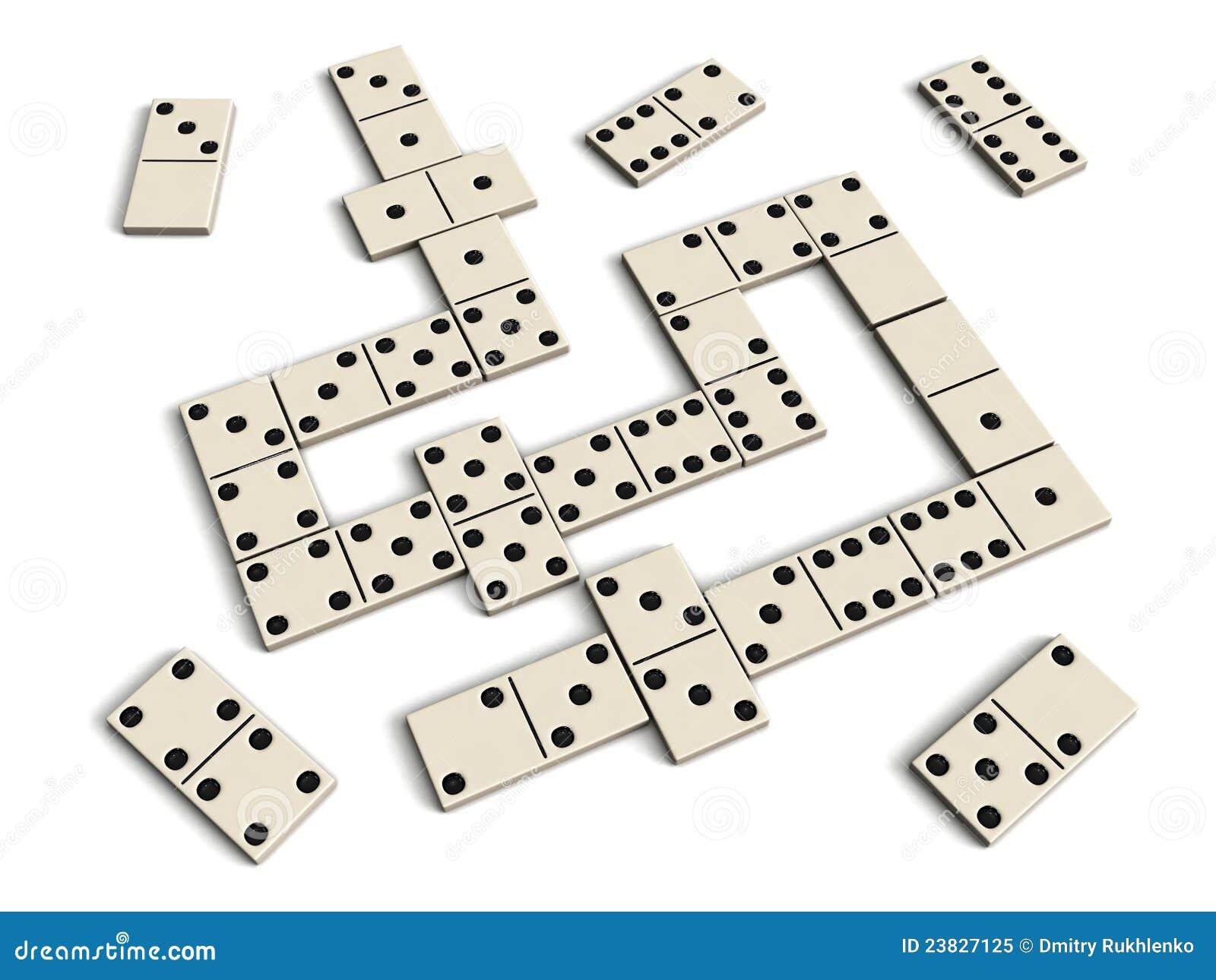 jeu de domino photo libre de droits image 23827125. Black Bedroom Furniture Sets. Home Design Ideas