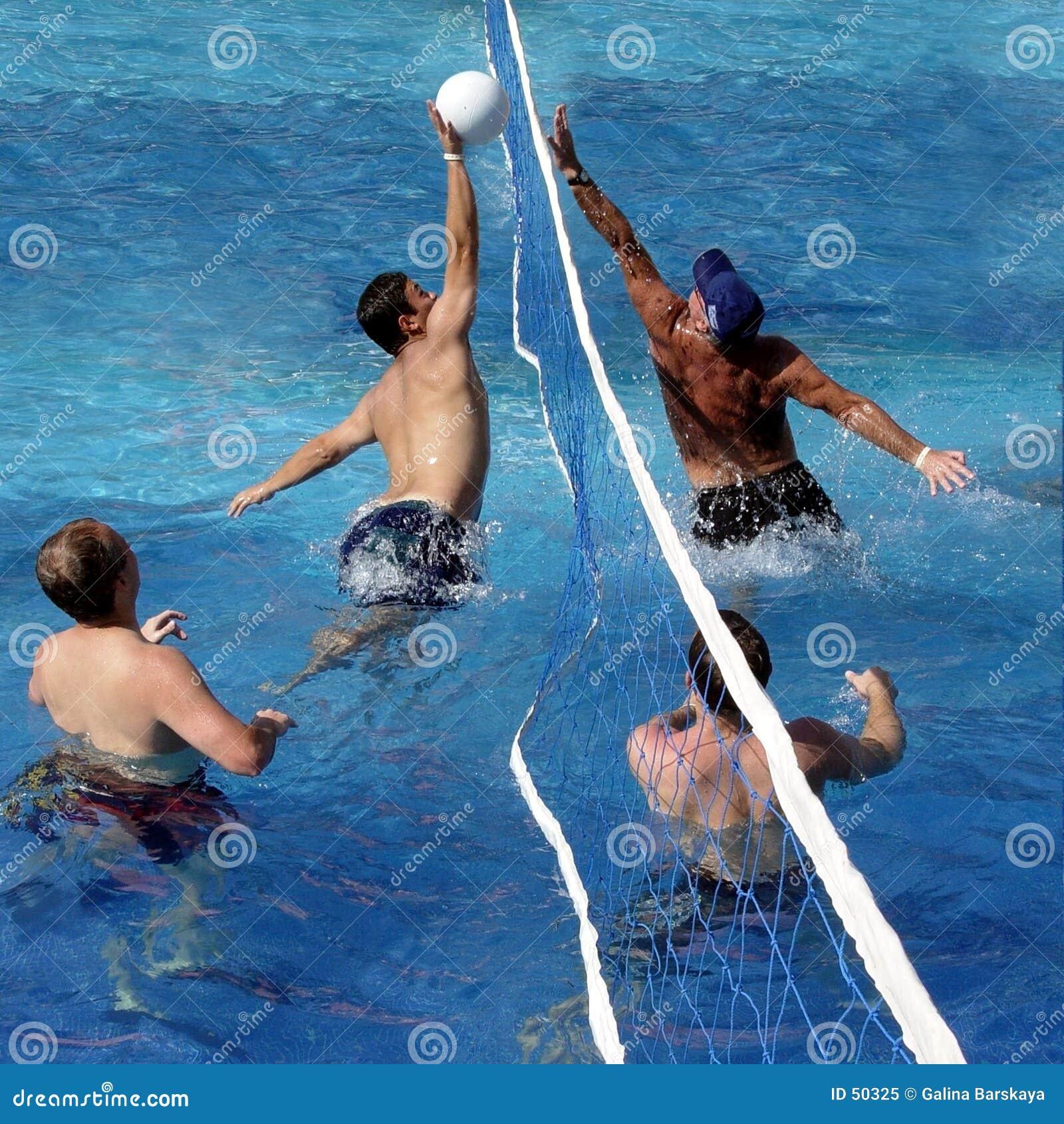 Download Jeu de polo d'eau image stock. Image du bille, bleu, heureux - 50325