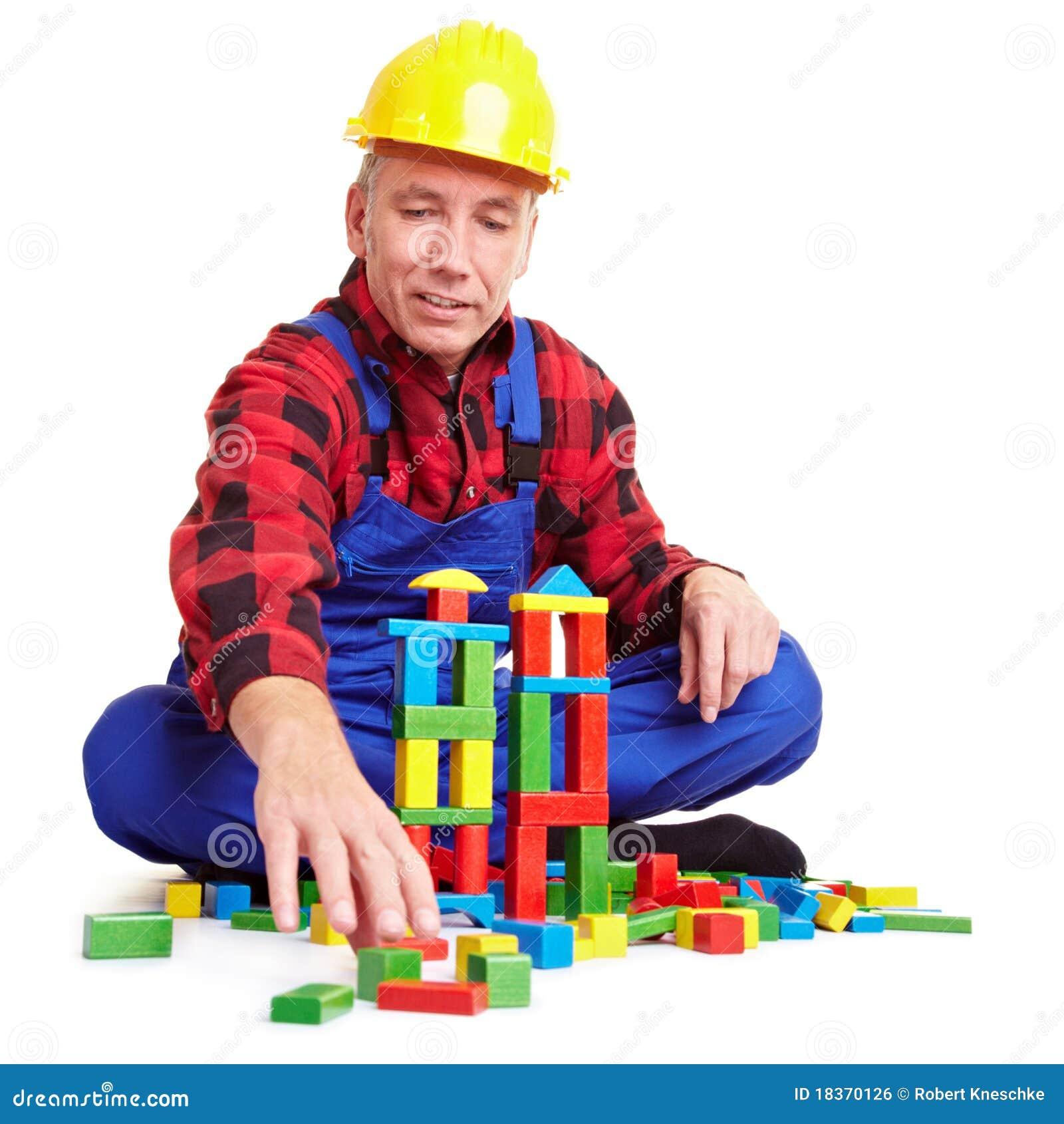 Jeu de travailleur de la construction