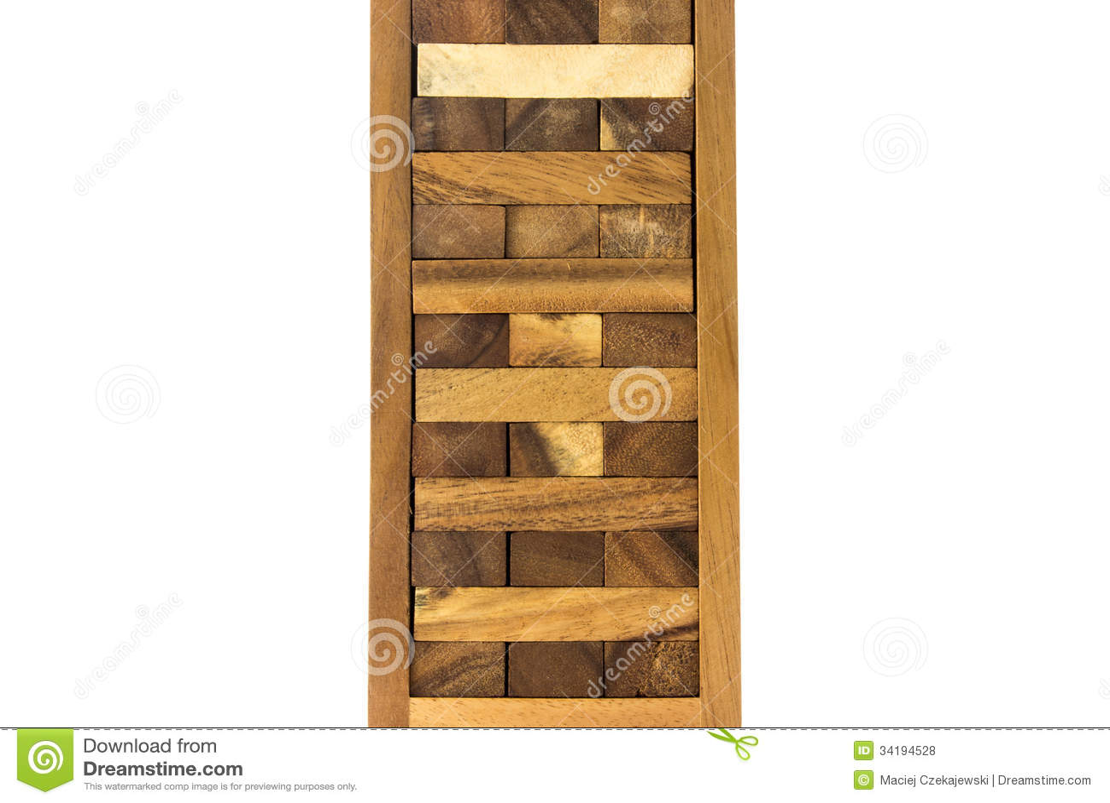 Jeu en bois asiatique traditionnel de bloc de tour disolement sur le  ~ Plan Tour A Bois