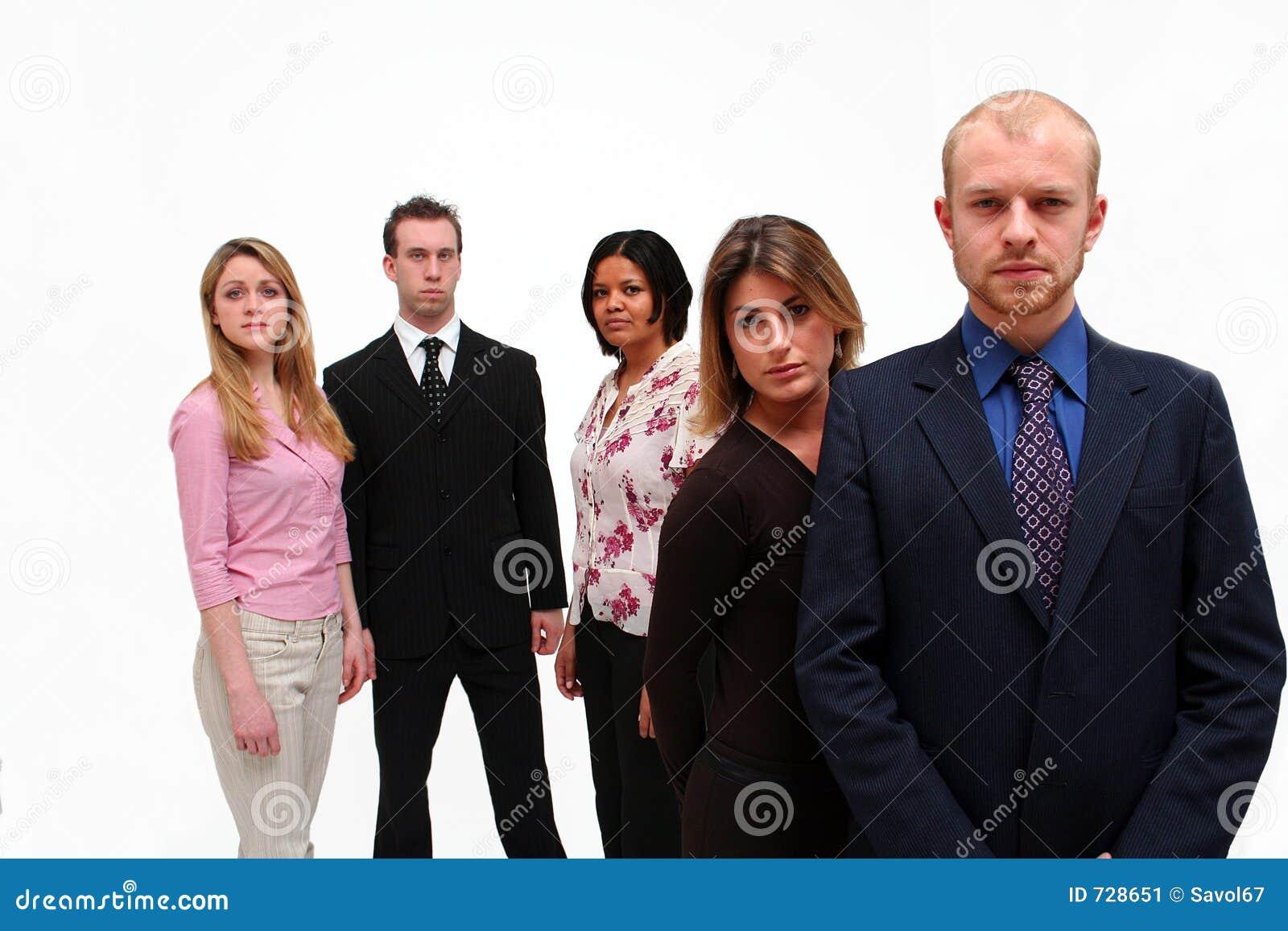 Jeune équipe 2 d affaires