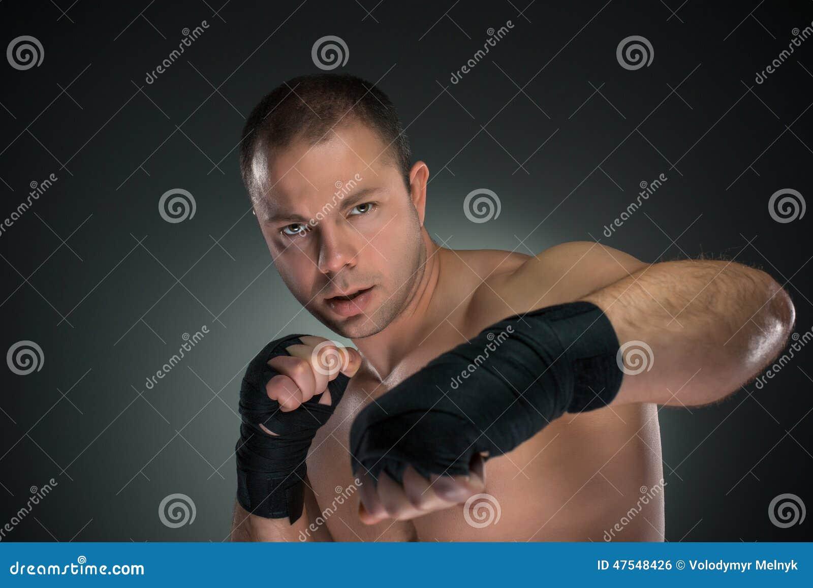 Jeune boxe de boxeur