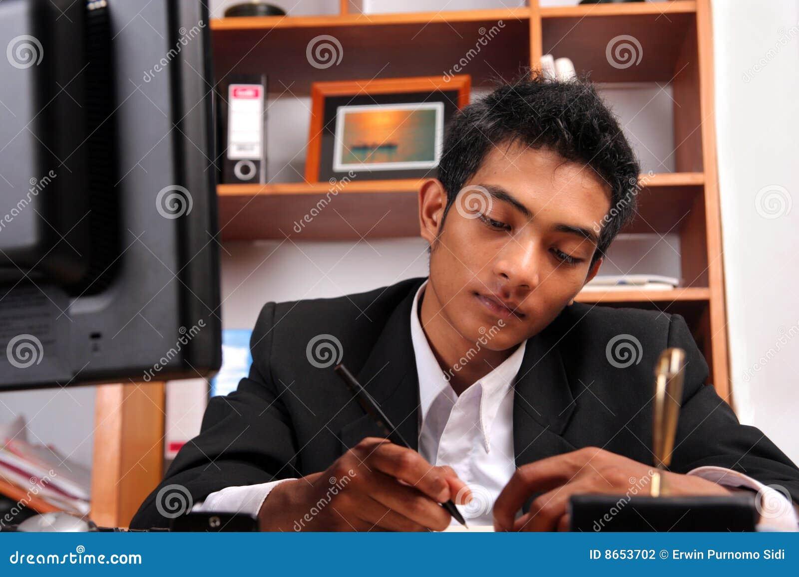 Jeune cadre d affaires