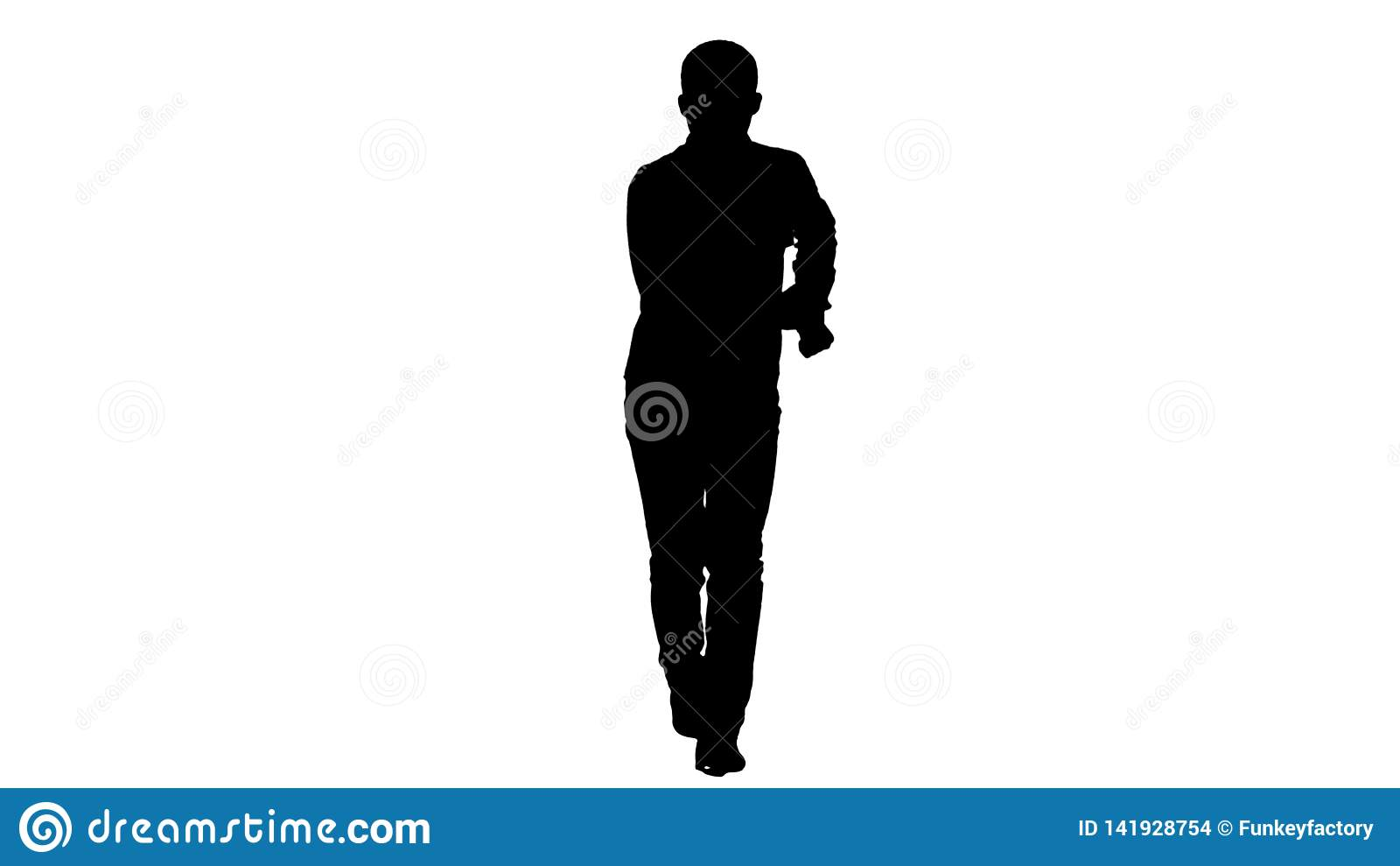 Jeune danse folle d homme de silhouette et se branler en avant