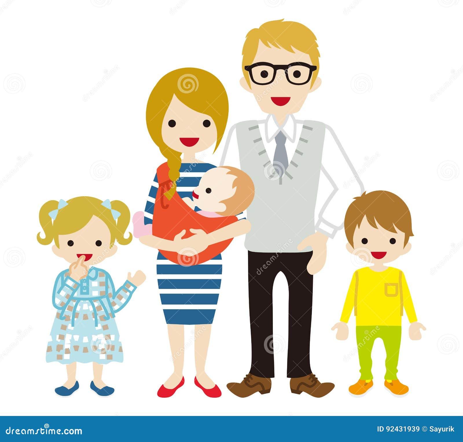 Jeune famille - Caucasien