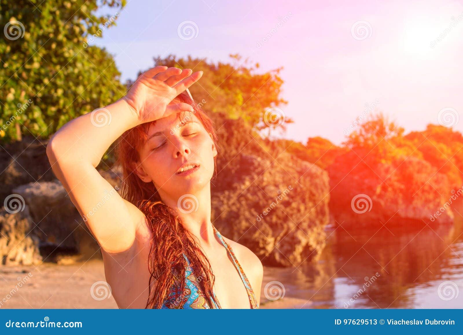 jeune femme en chaleur