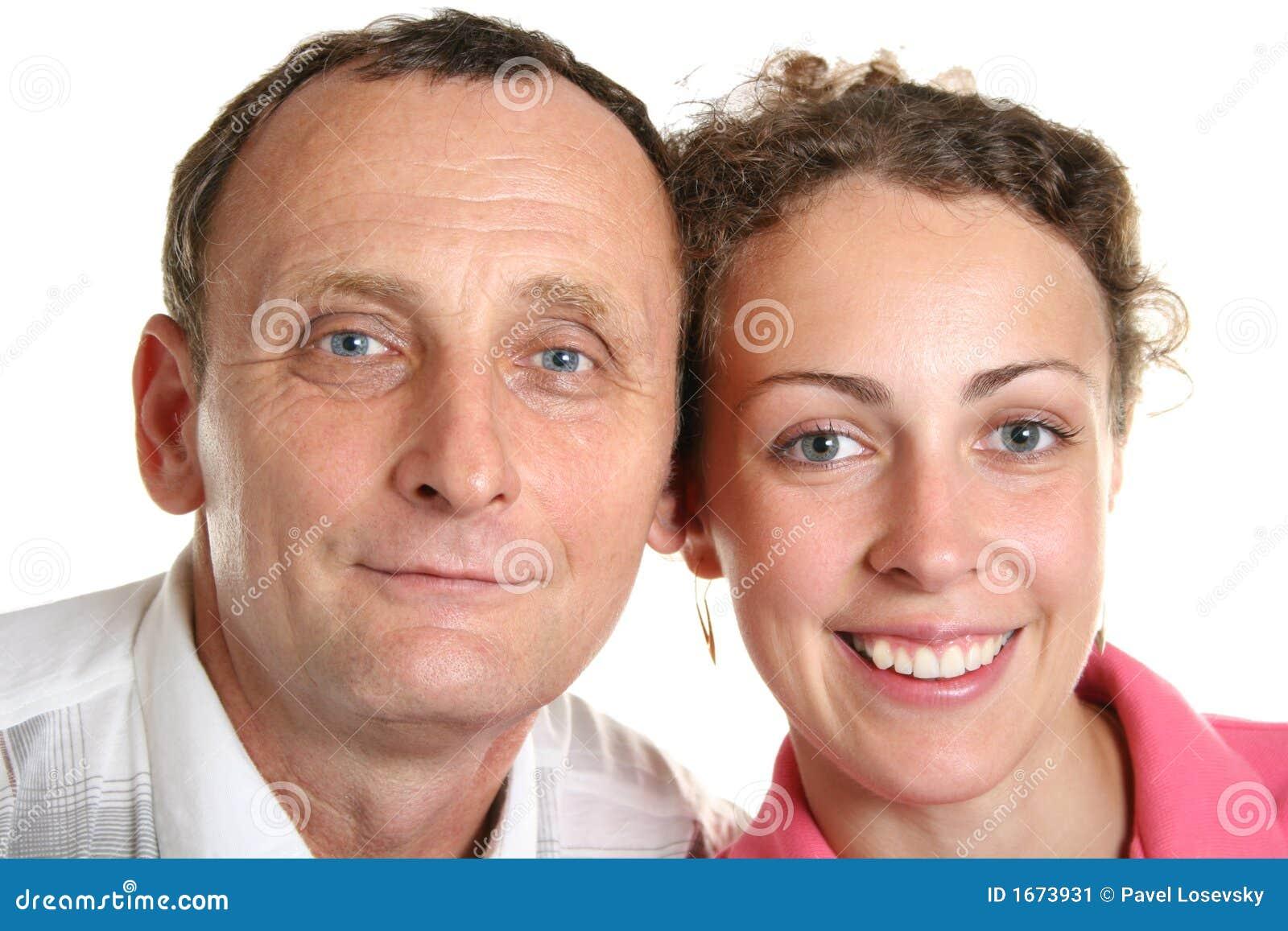 Jeune femme et son père