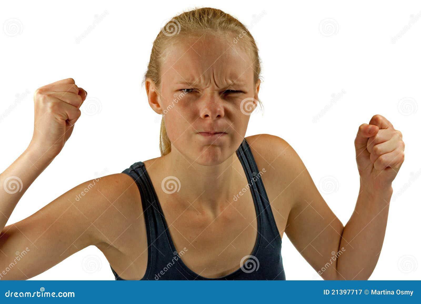 Jeune femme fâchée