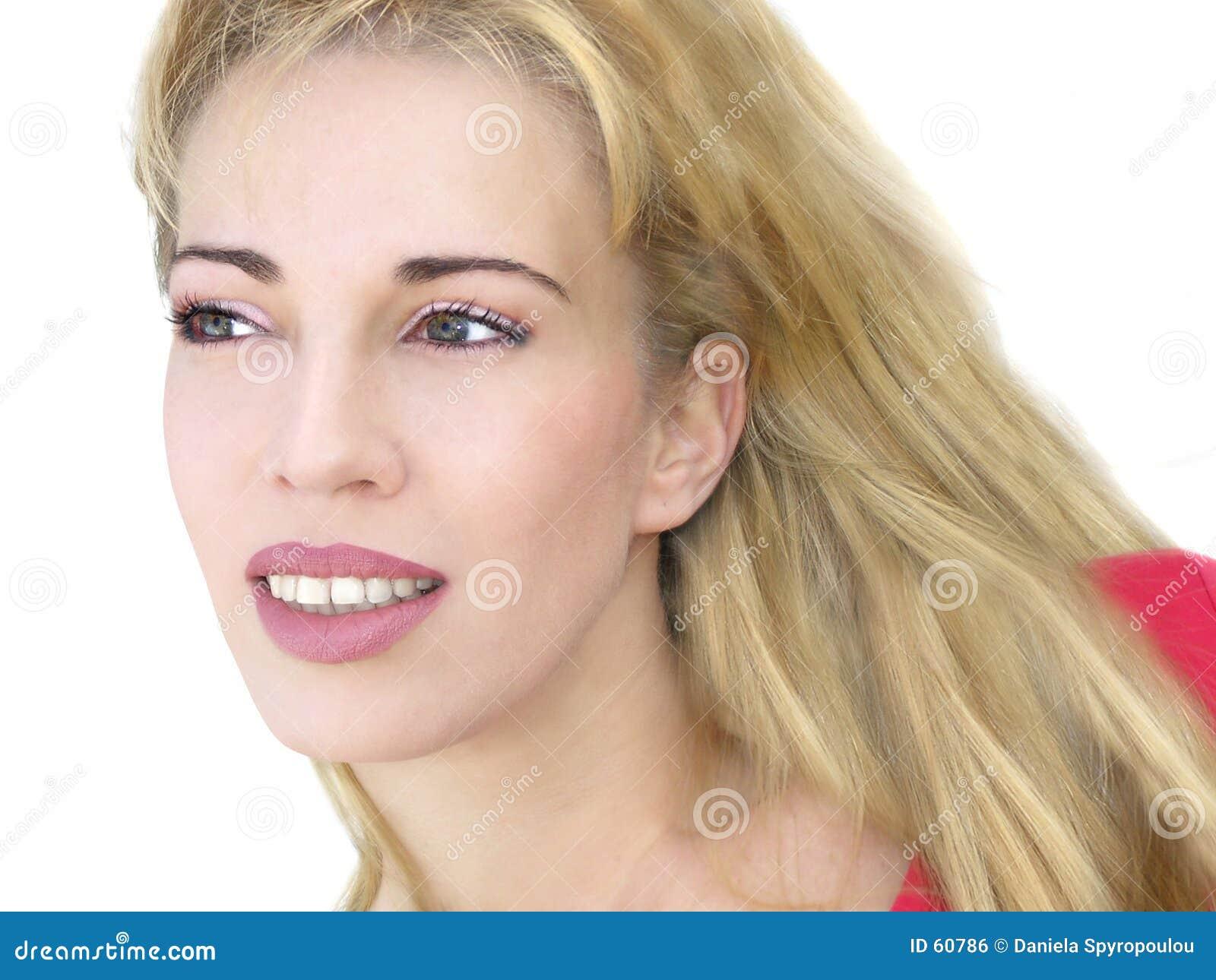 Download Jeune femme heureuse photo stock. Image du modèles, isolement - 60786