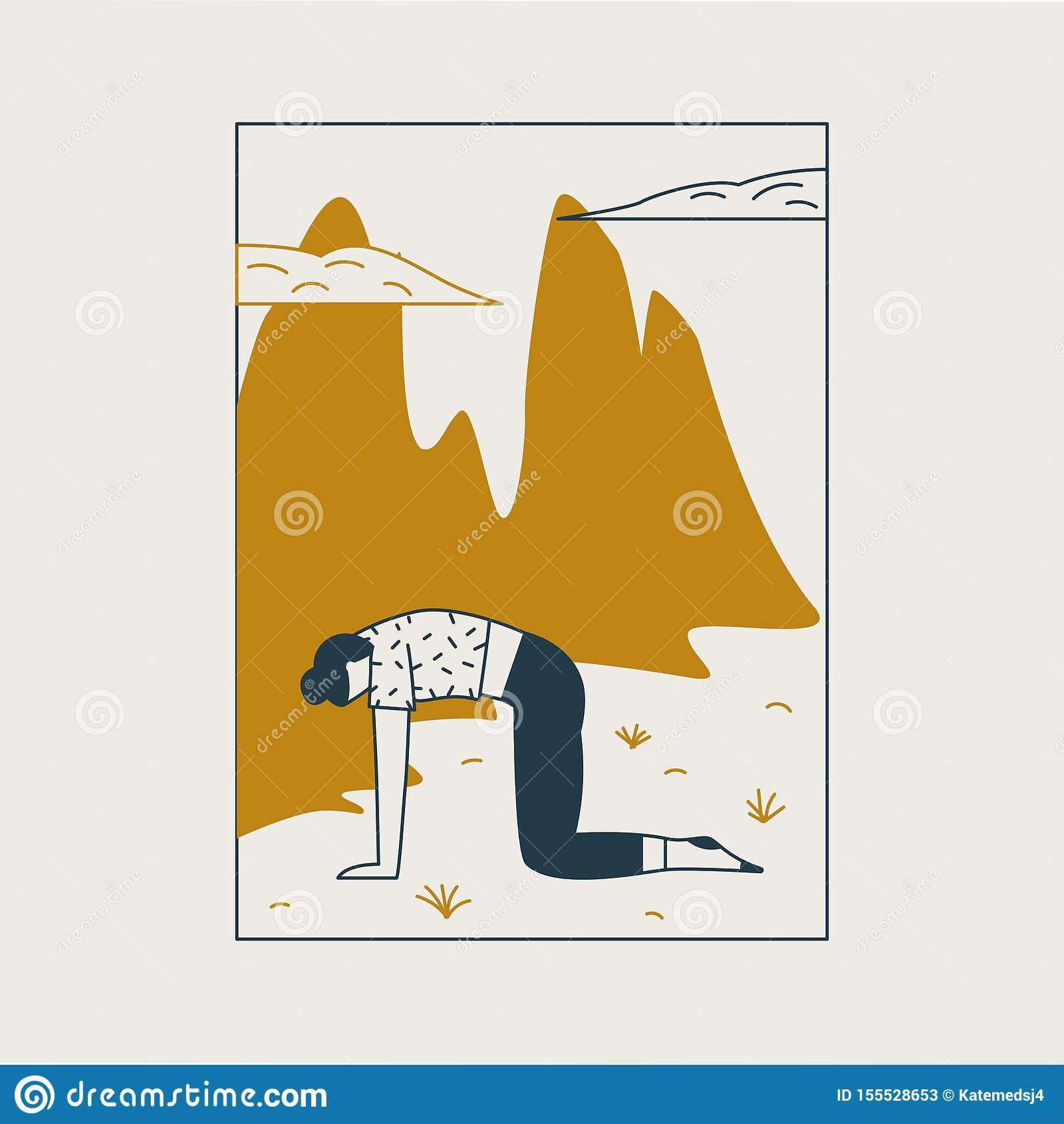 Jeune femme s asseyant dans la posture de yoga et m?ditant Fille faisant l exercice et la méditation d aérobic à la maison