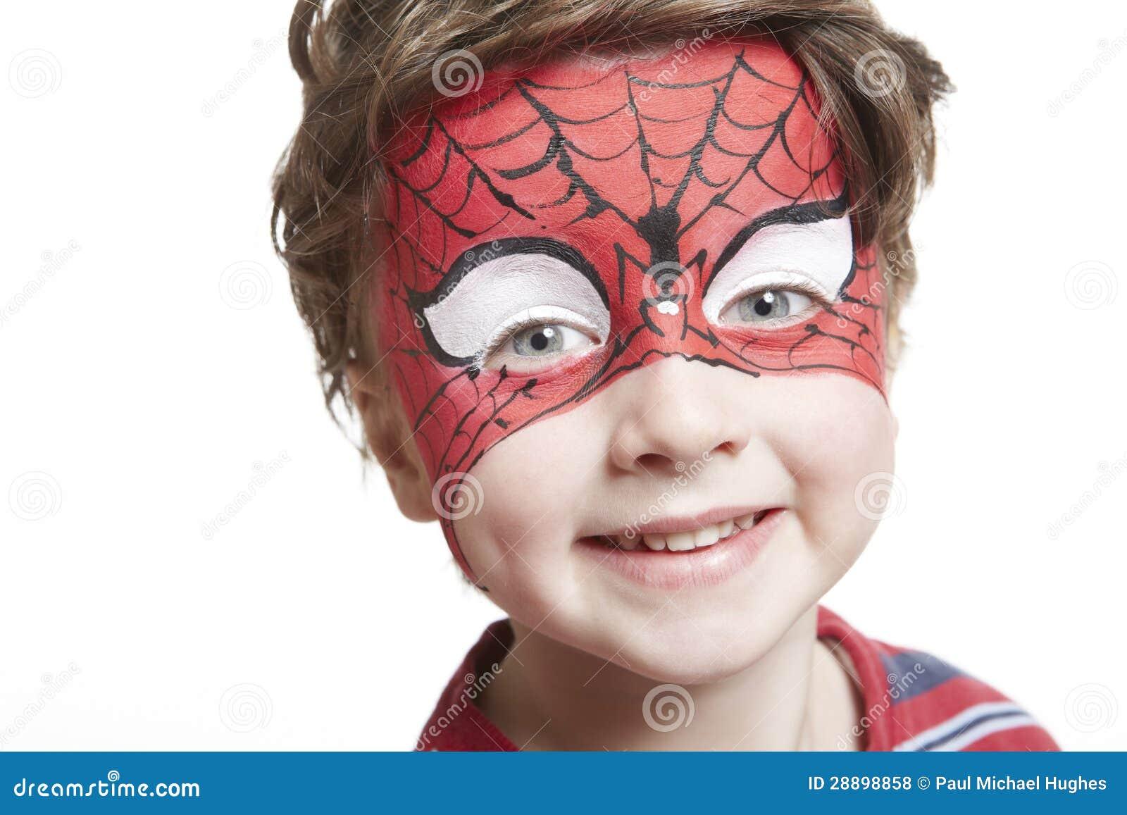 maquillage spiderman visage. Black Bedroom Furniture Sets. Home Design Ideas