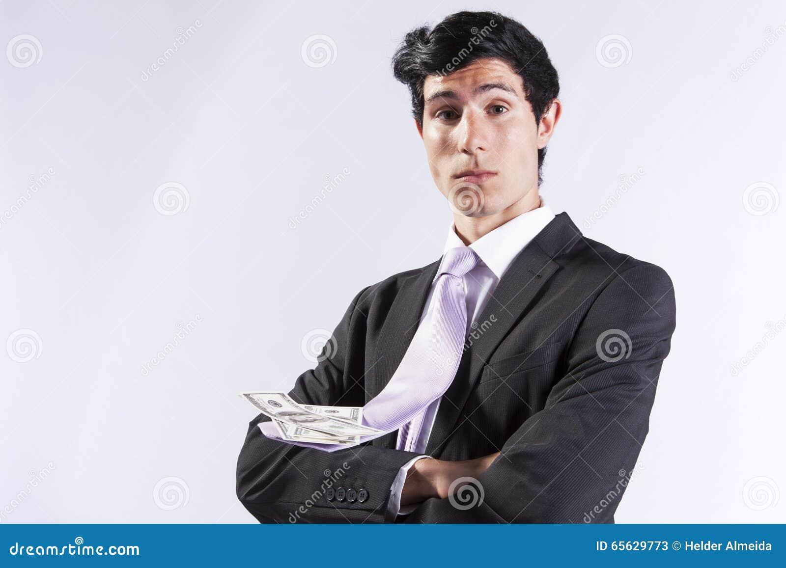 Jeune homme d affaires