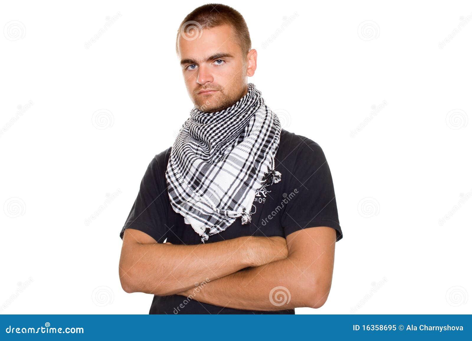 Jeune Homme Dans Une écharpe Palestinienne Image stock - Image du ... e6d8f11ae35