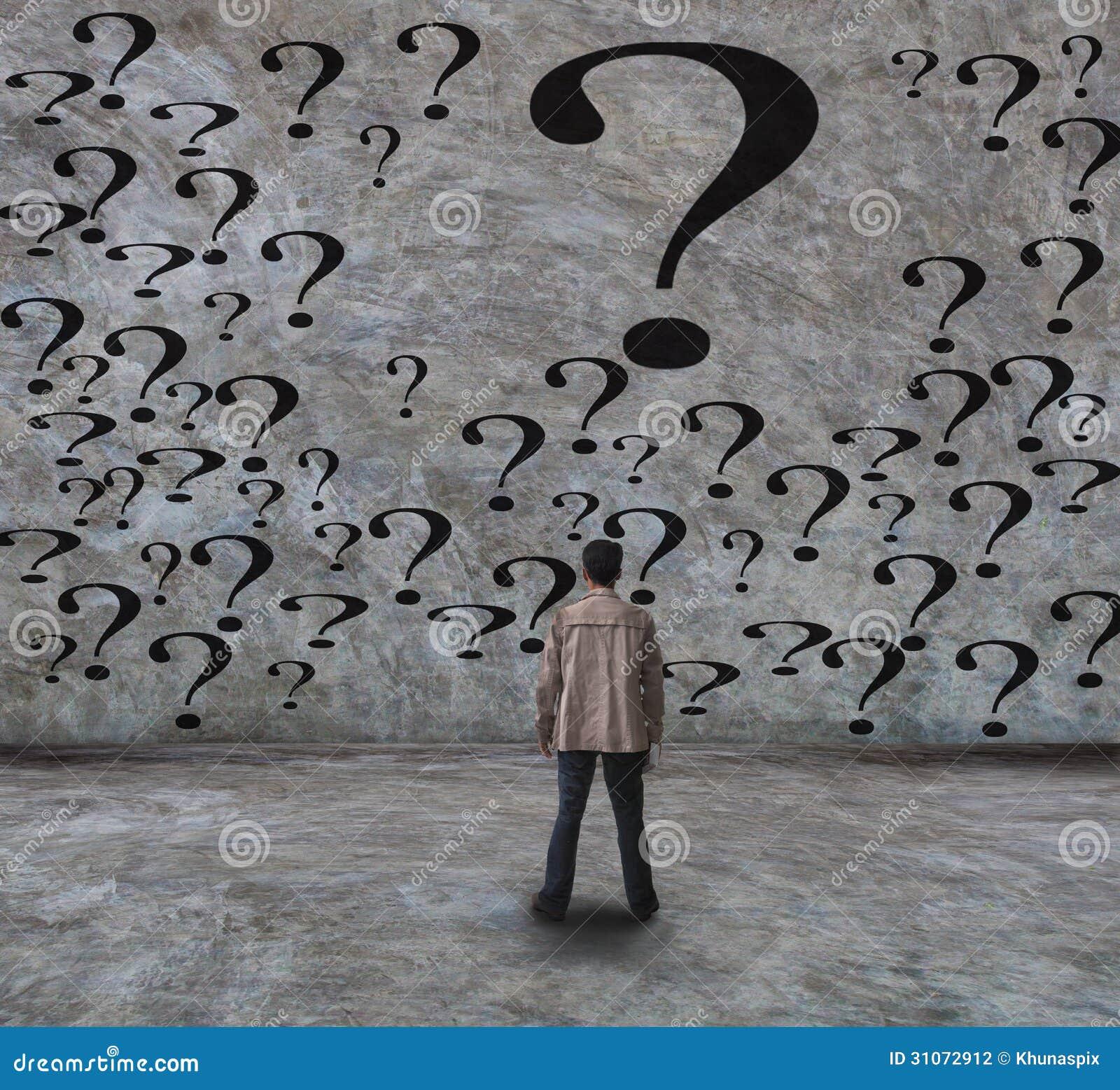 jeune homme et question photo stock  image du choix