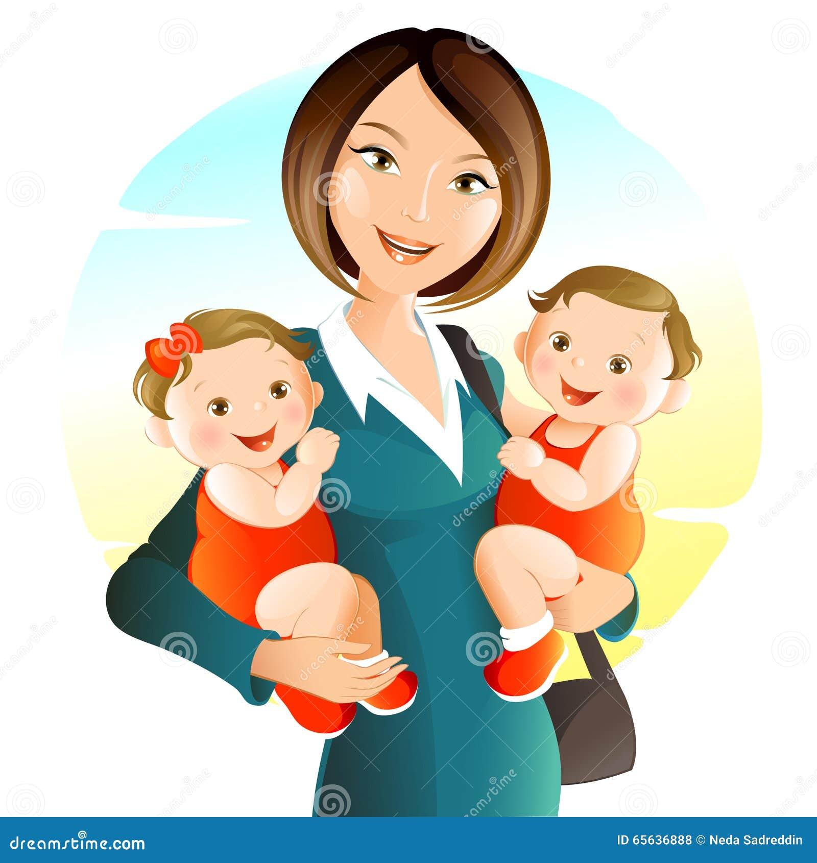 Jeune mère avec la chéri