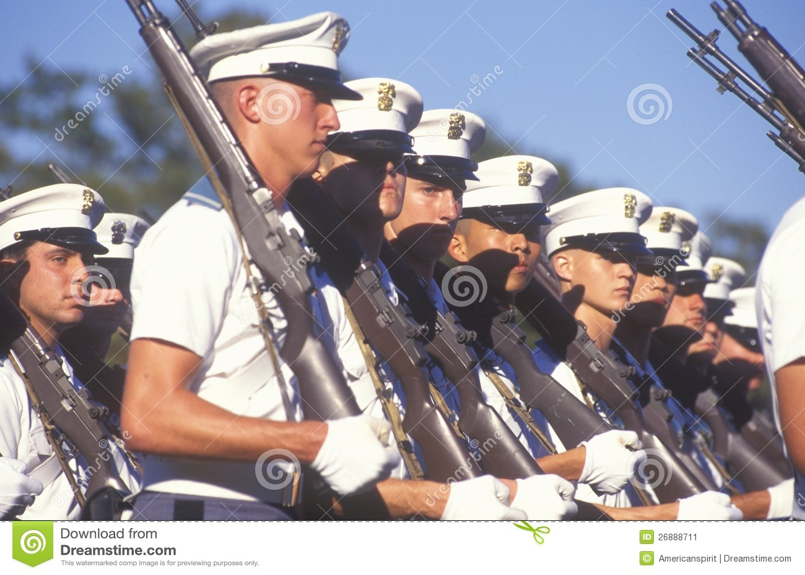 Jeune marche de cadets