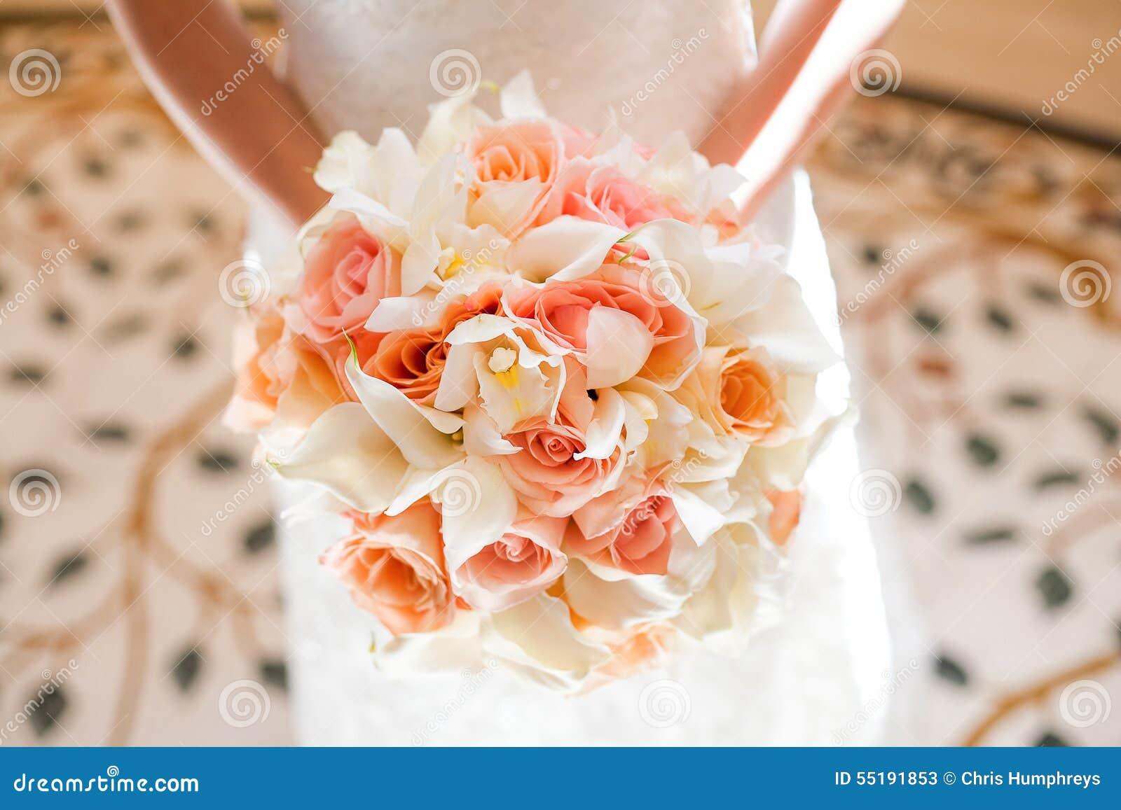 Mariage orange et rose