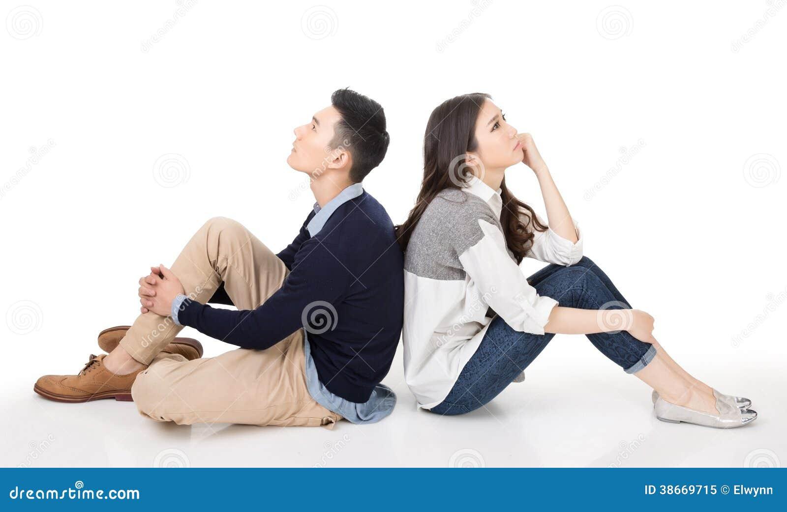 Jeune pensée de couples
