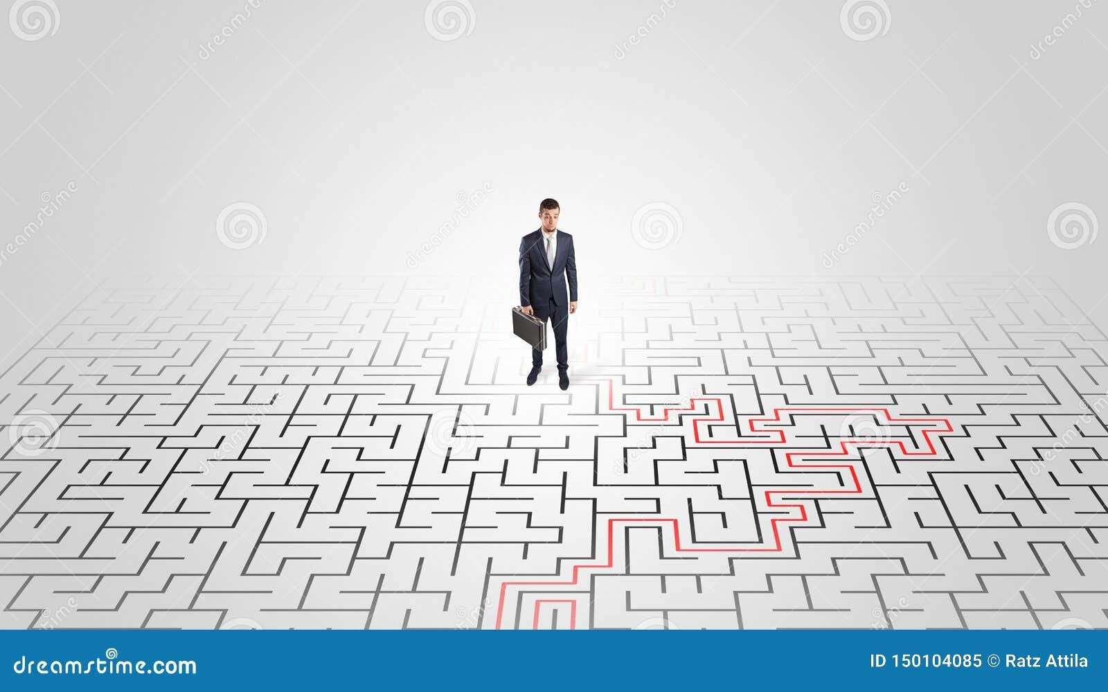 Jeune position d entrepreneur ? un milieu d un labyrinthe