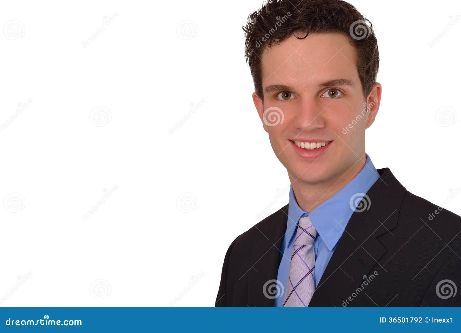Jeune rire réussi heureux d homme d affaires