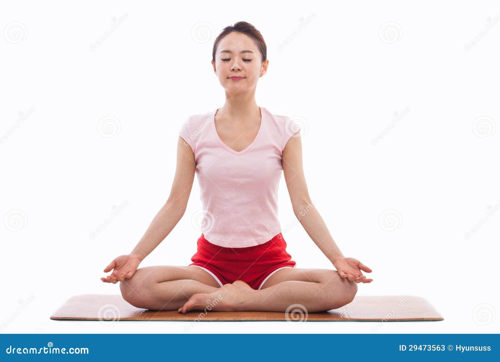 jeune yoga asiatique d 39 exercice de femme photos stock image 29473563. Black Bedroom Furniture Sets. Home Design Ideas