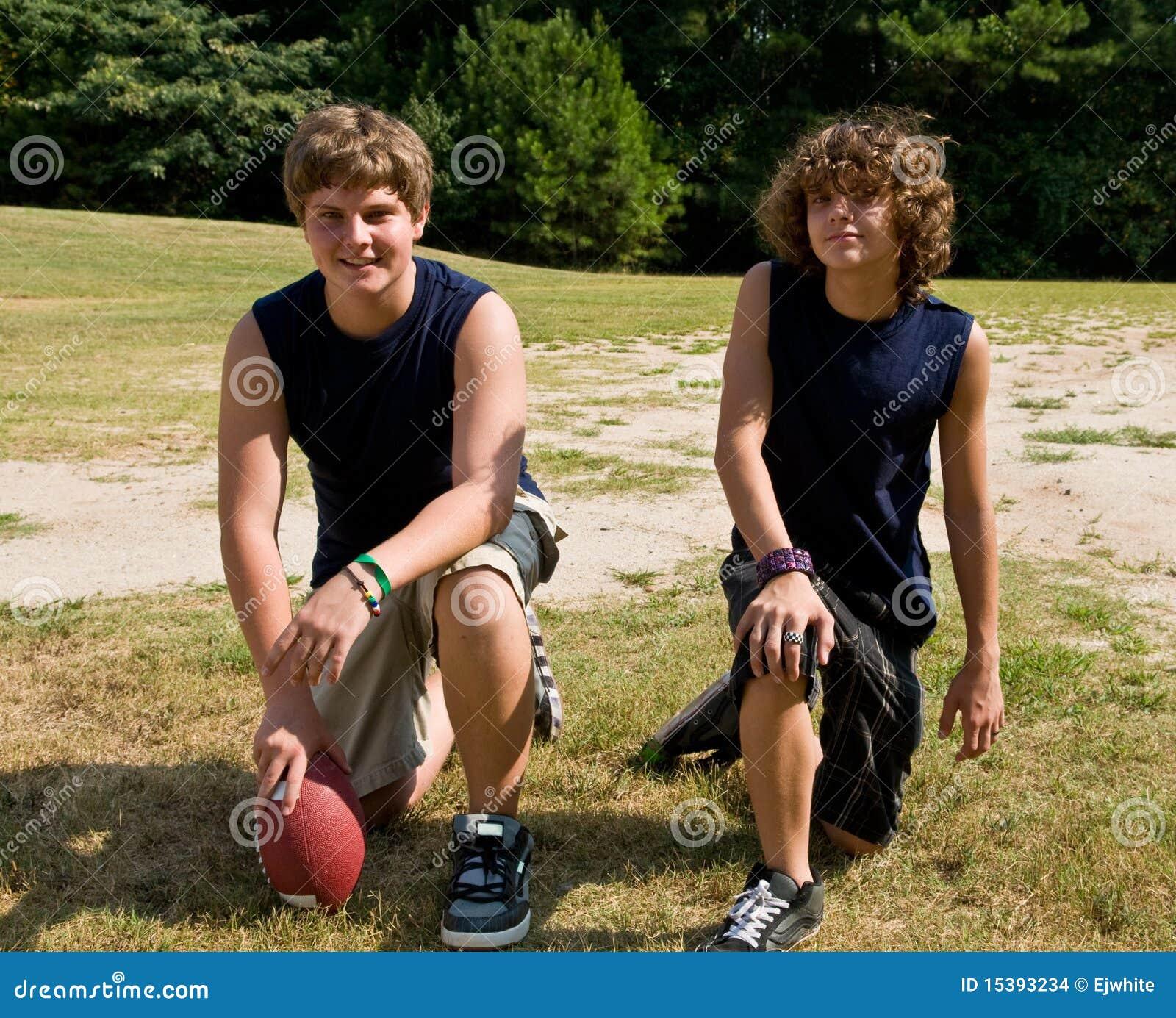 Jeunes athlètes du football