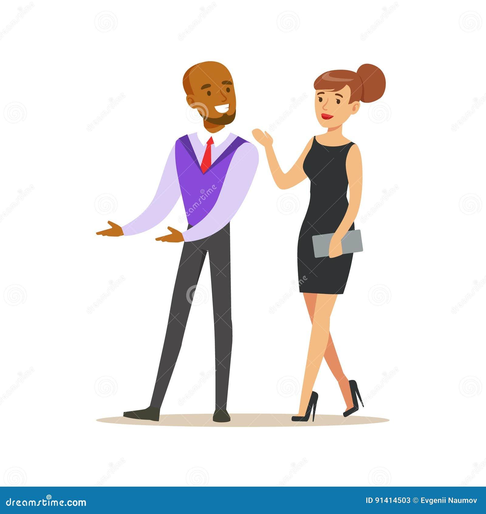 Jeunes Couples D Homme Et De Femme Elegants Beaux Dans La Robe De
