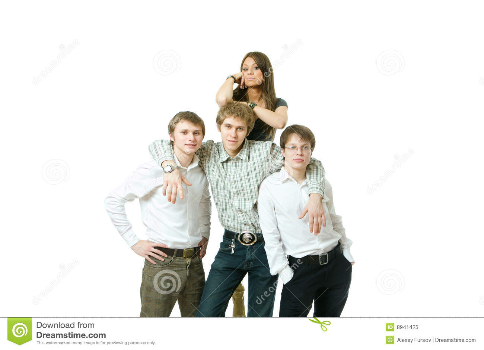 Jeunes d équipe de gens