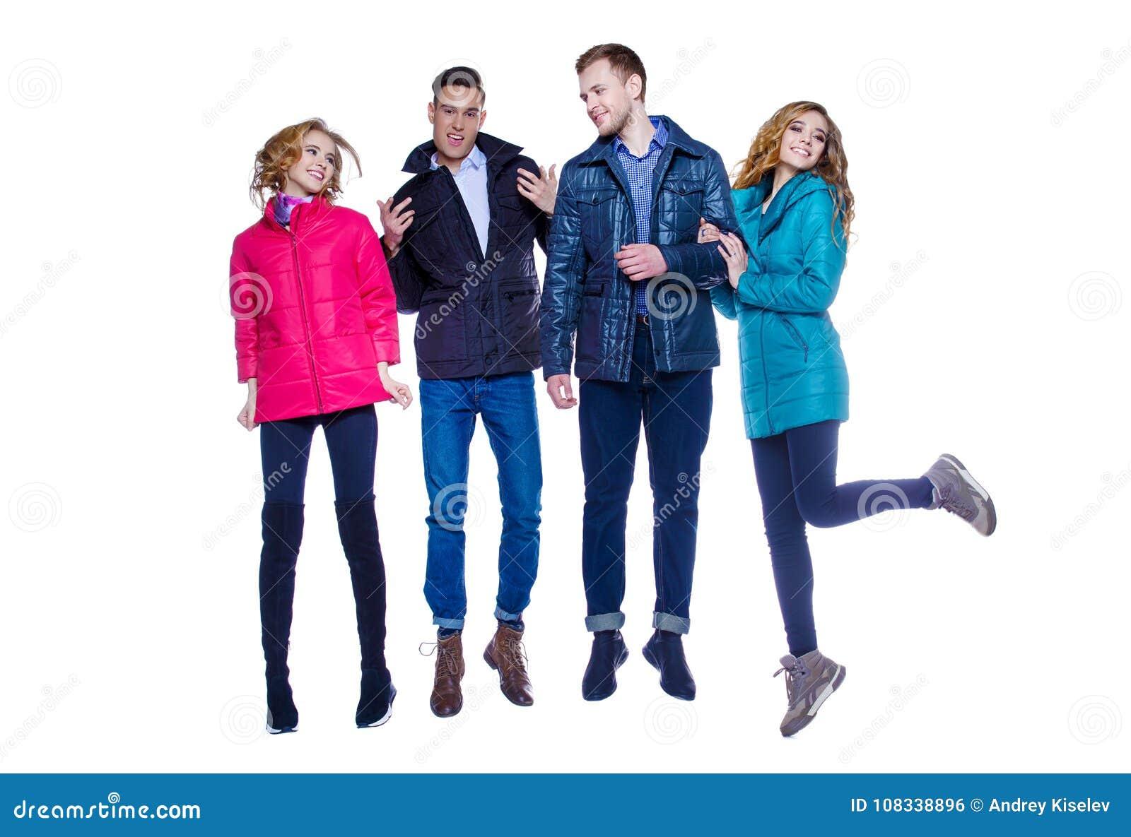Jeunesse dans des vestes