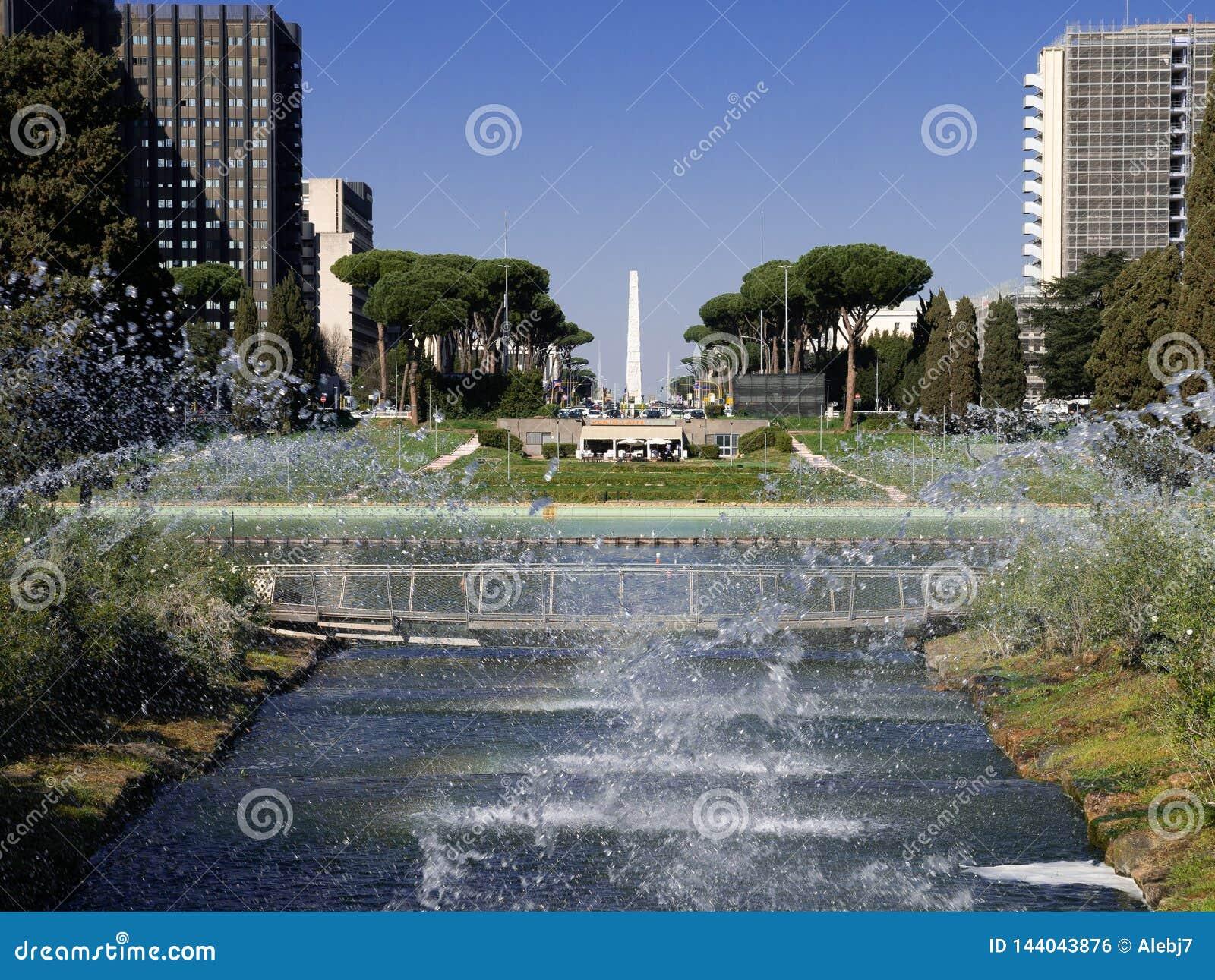 Jeux de l eau à Rome