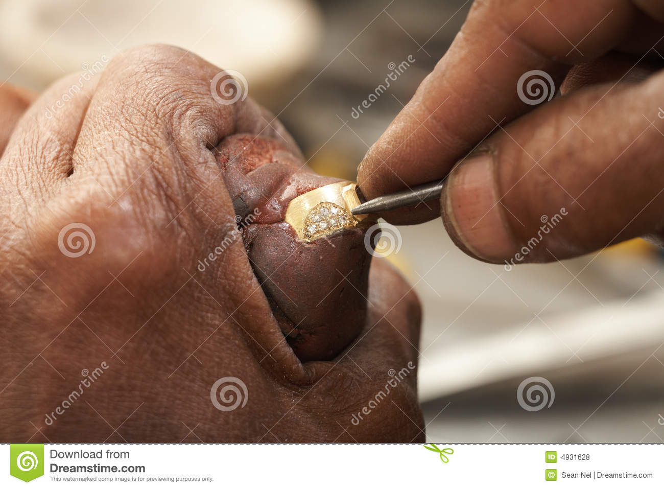 Jeweler making rings stock photo. Image of fashion, close - 4931628