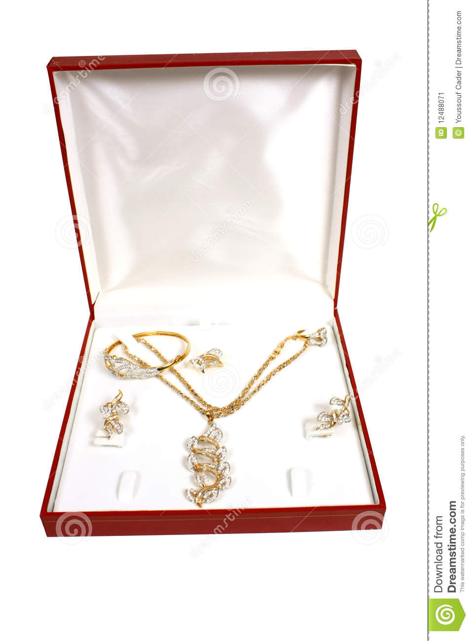 Jewellery in box stock image Image of jewelry ring 12488071